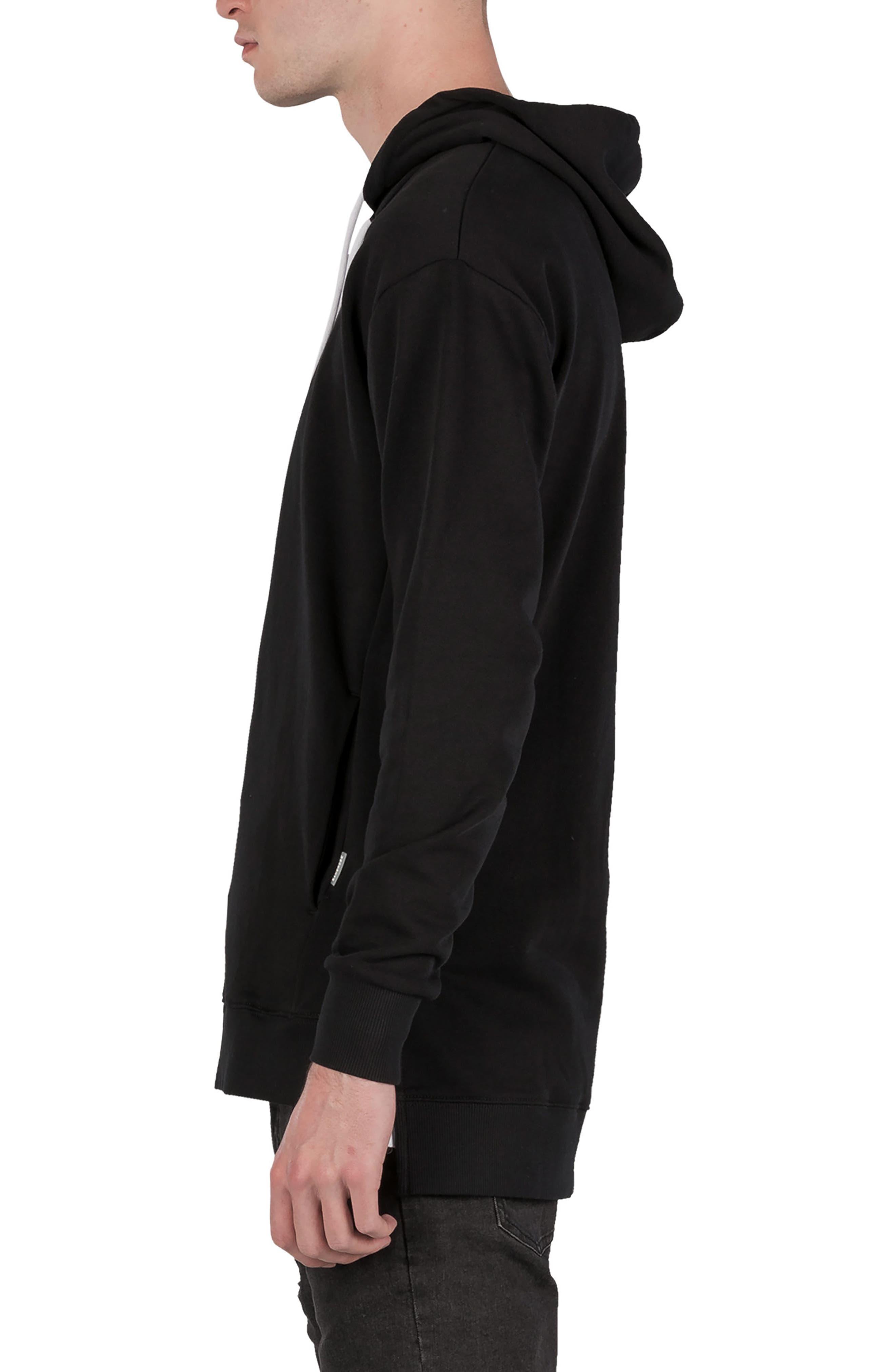 Rugger Hooded Sweatshirt,                             Alternate thumbnail 3, color,                             BLACK