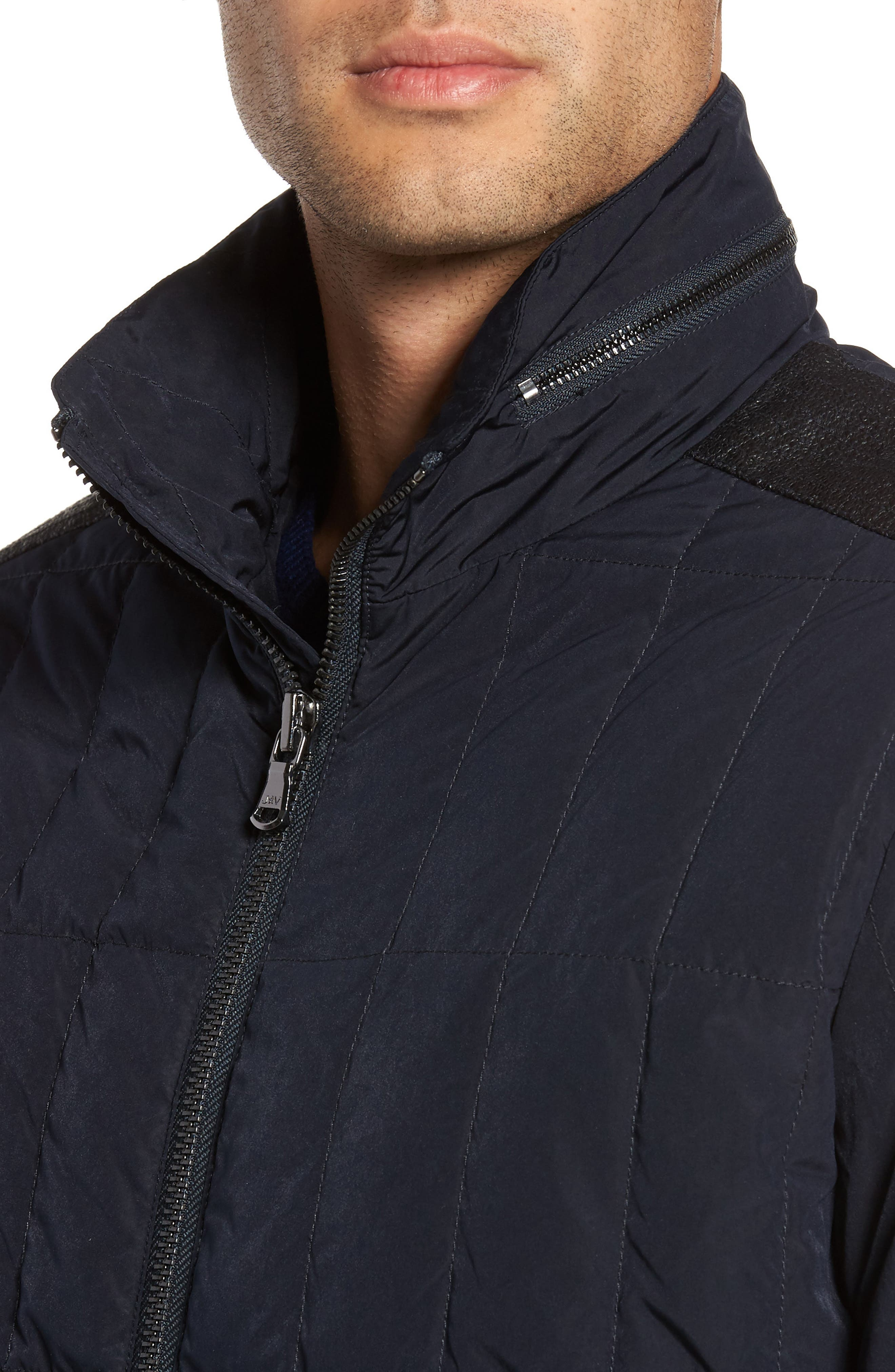 Quilted Down Jacket,                             Alternate thumbnail 8, color,