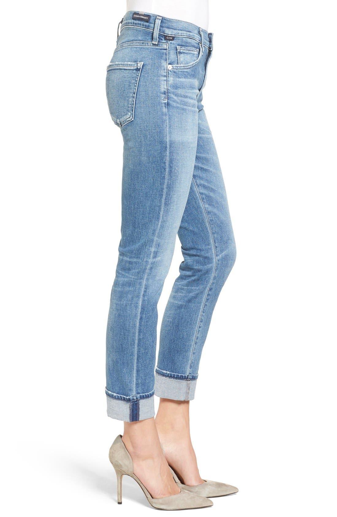 Jazmin Crop Straight Leg Jeans,                             Alternate thumbnail 4, color,                             424