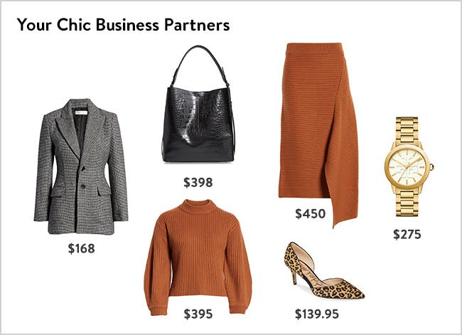 Your chic new business partners: women's work clothing, shoes and accessories.