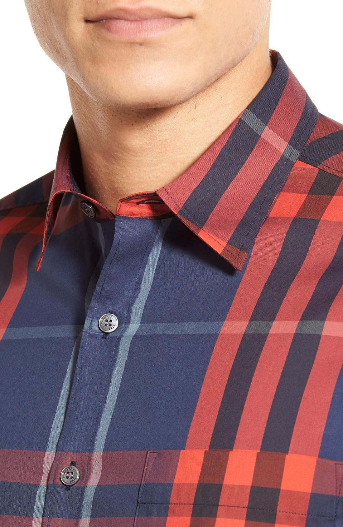 Nelson Check Sport Shirt,                             Alternate thumbnail 84, color,