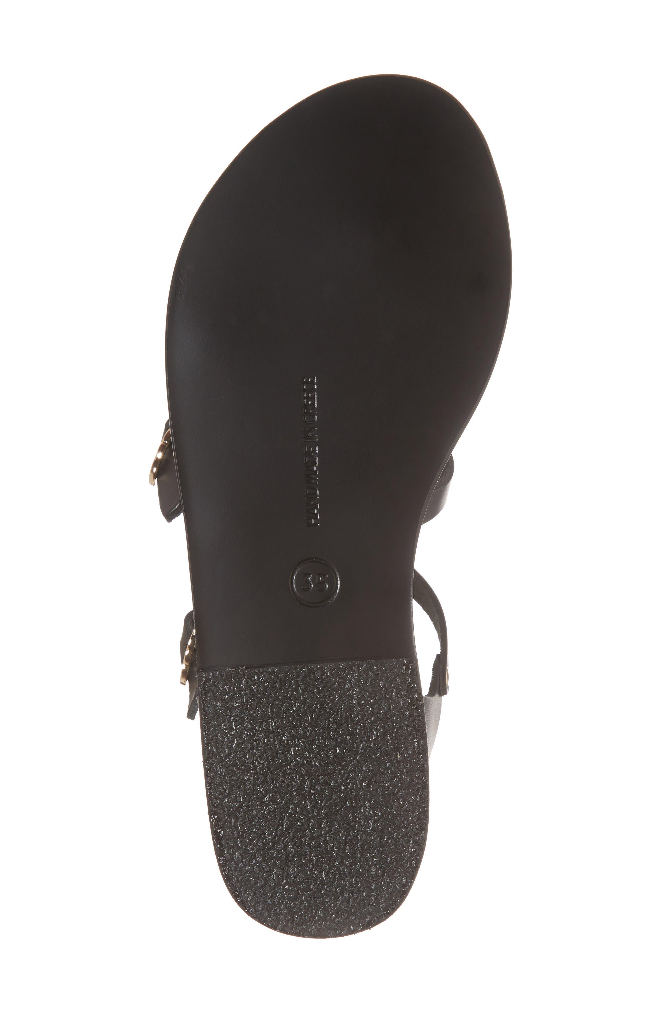 T-Strap Sandal,                             Alternate thumbnail 6, color,                             BLACK