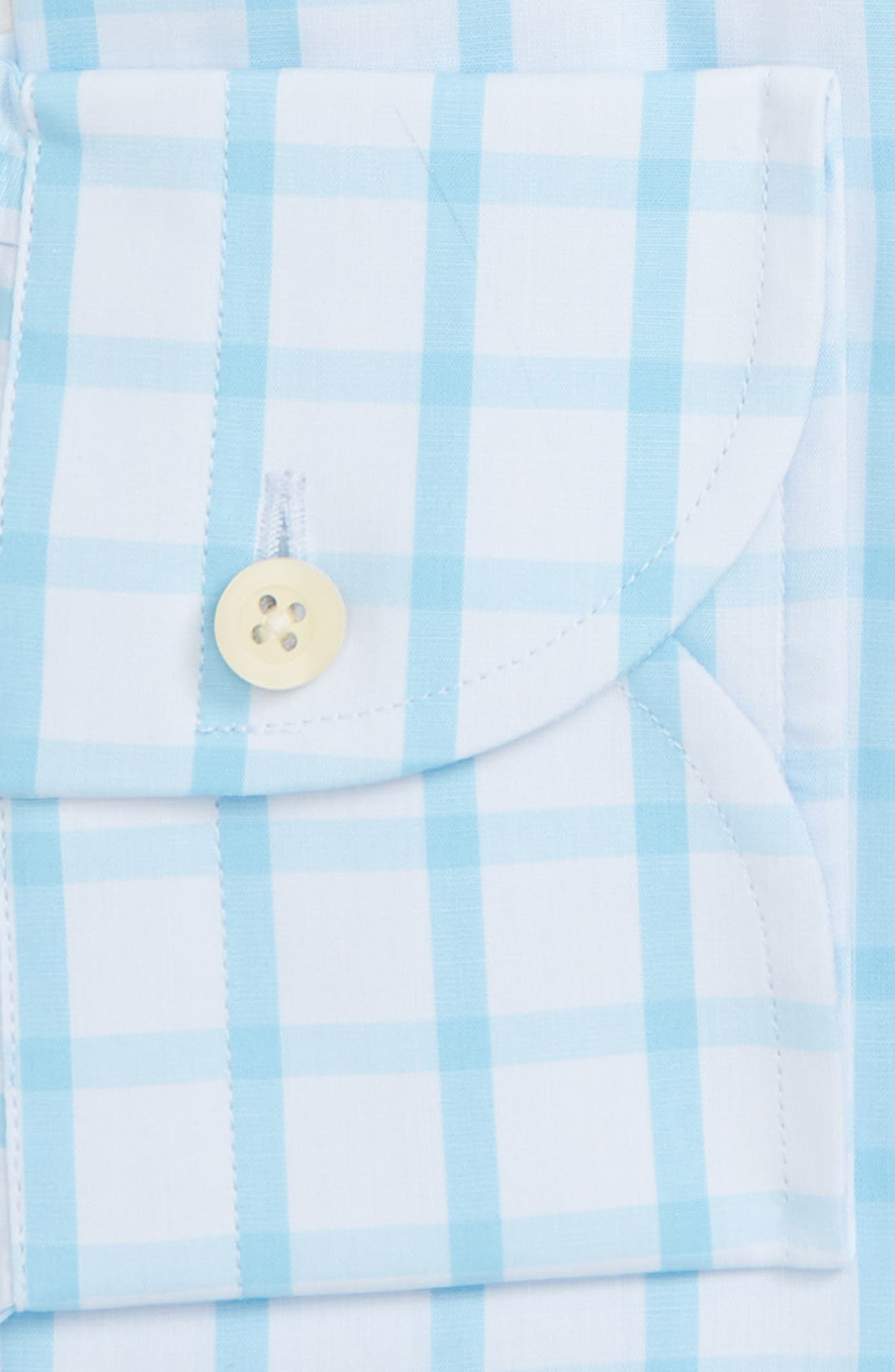 Hayden Trim Fit Windowpane Dress Shirt,                             Alternate thumbnail 5, color,