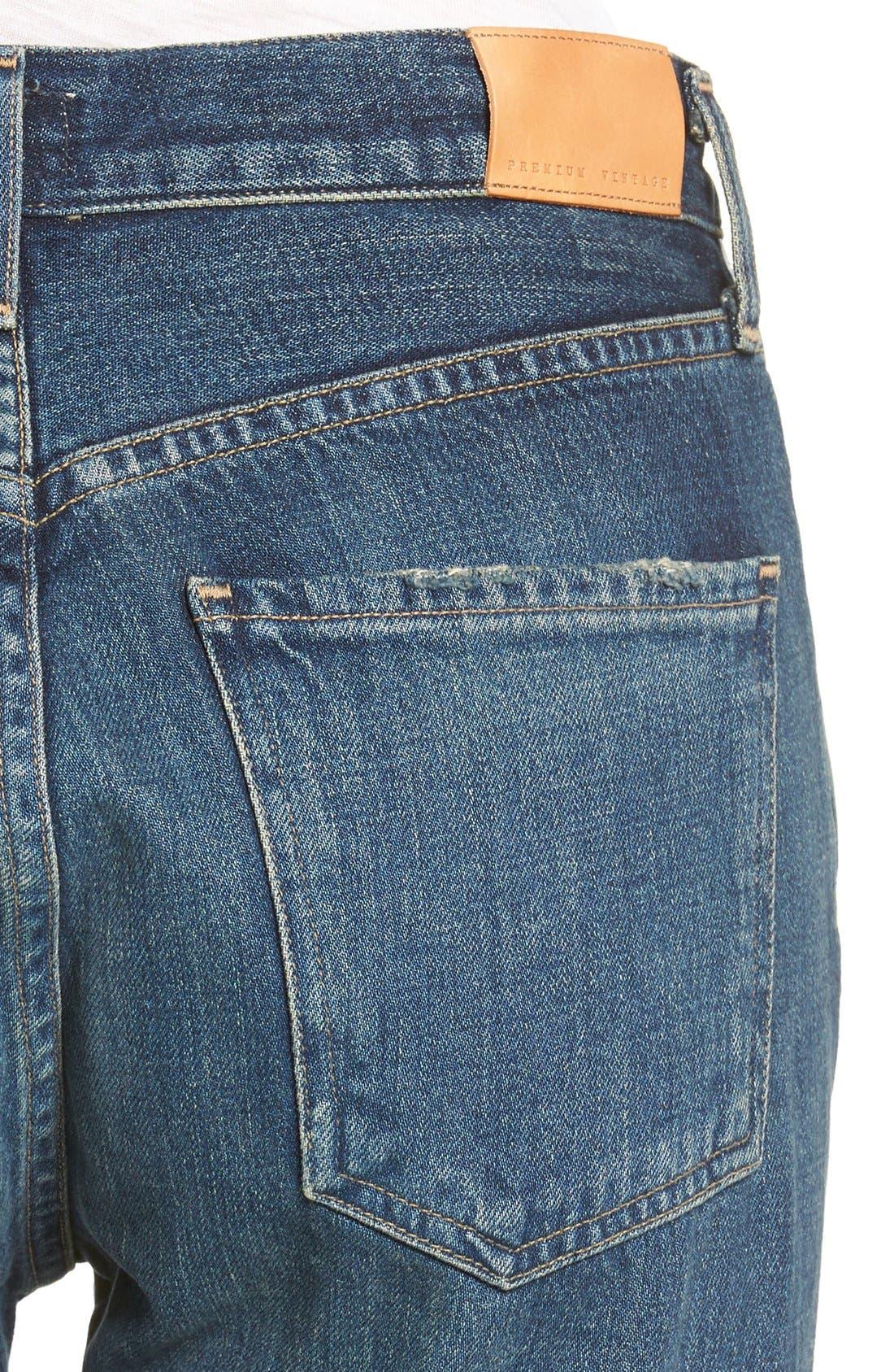 Liya High Waist Slim Boyfriend Jeans,                             Alternate thumbnail 6, color,                             WILTERN