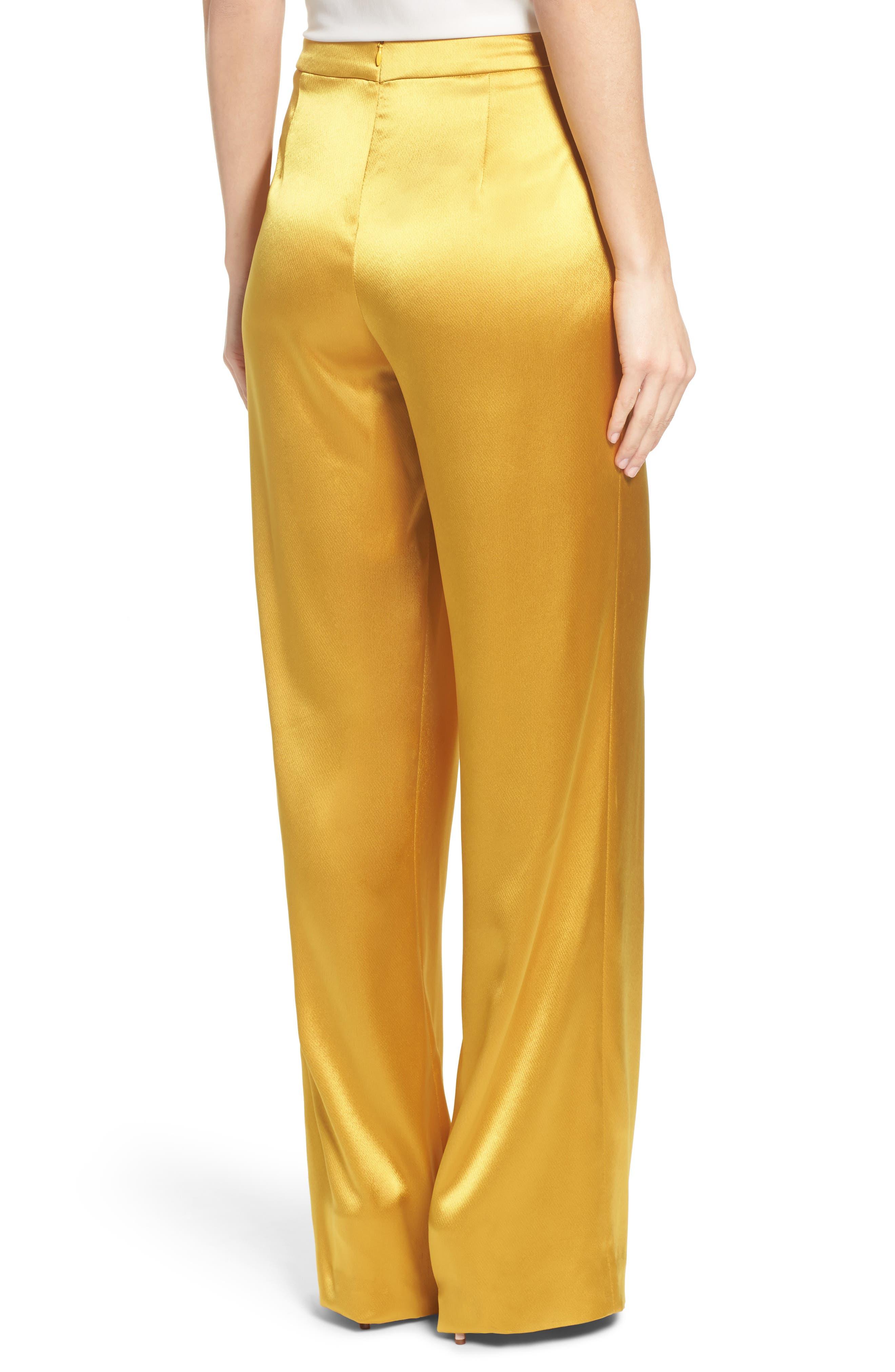 Fancy Pleated Front Satin Pants,                             Alternate thumbnail 2, color,                             700