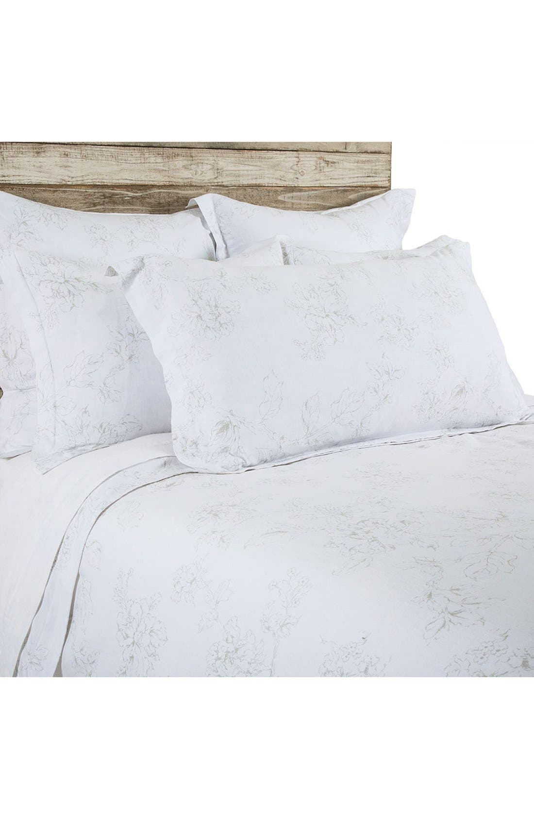 Lana Duvet Cover,                             Main thumbnail 1, color,                             WHITE/ TAUPE