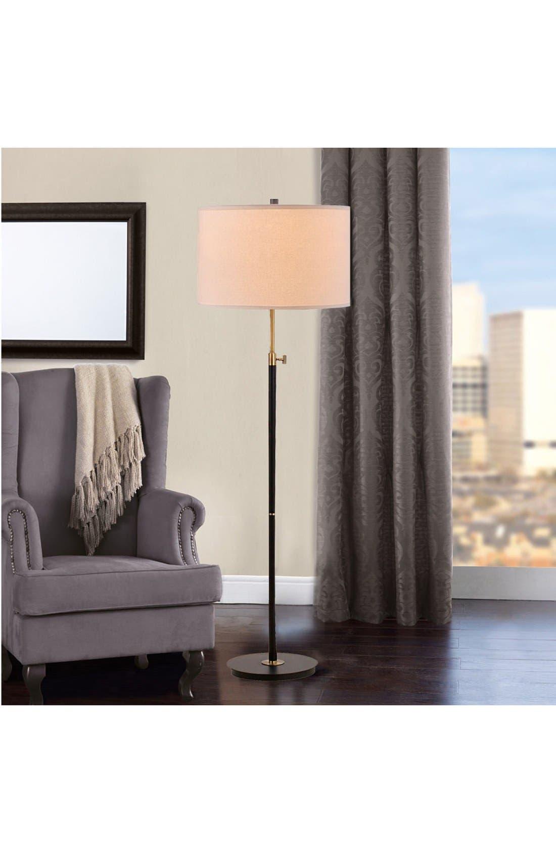 JAlexander Adjustable Floor Lamp,                             Alternate thumbnail 2, color,                             BLACK