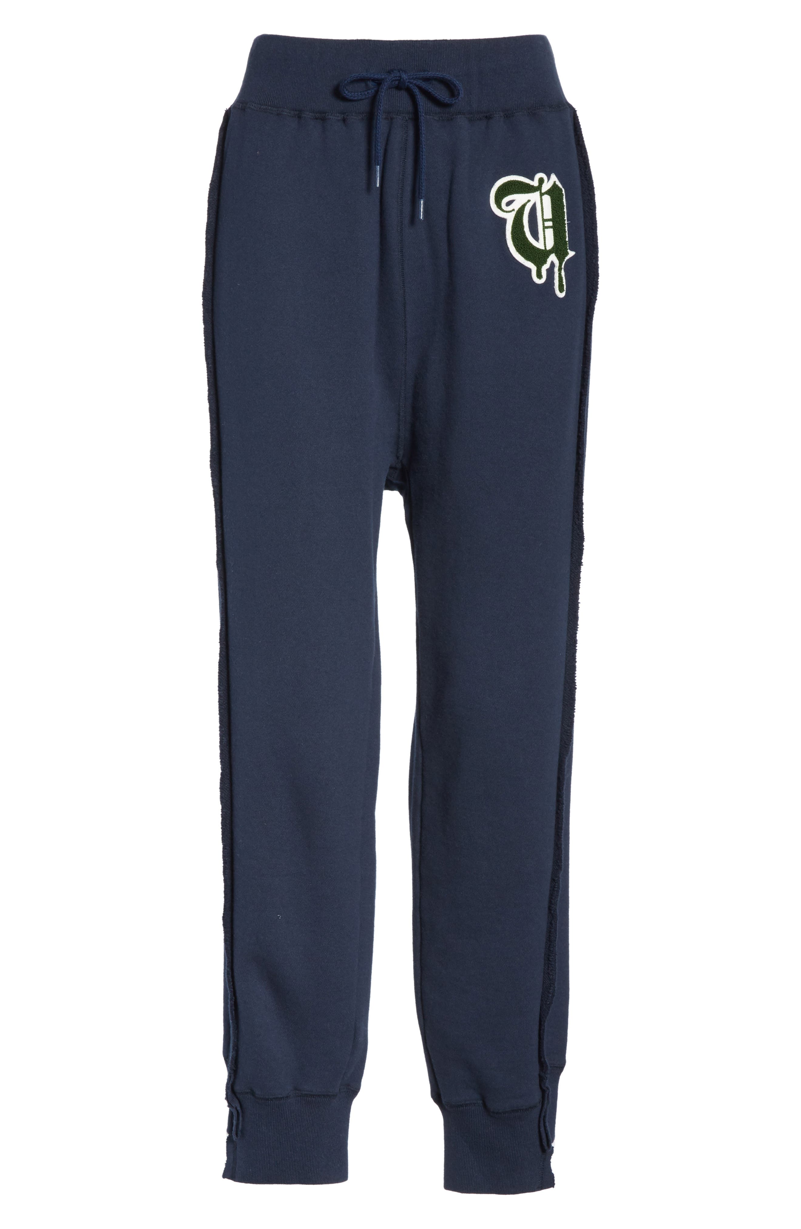 Logo Sweatpants,                             Alternate thumbnail 6, color,                             B DARK NAVY