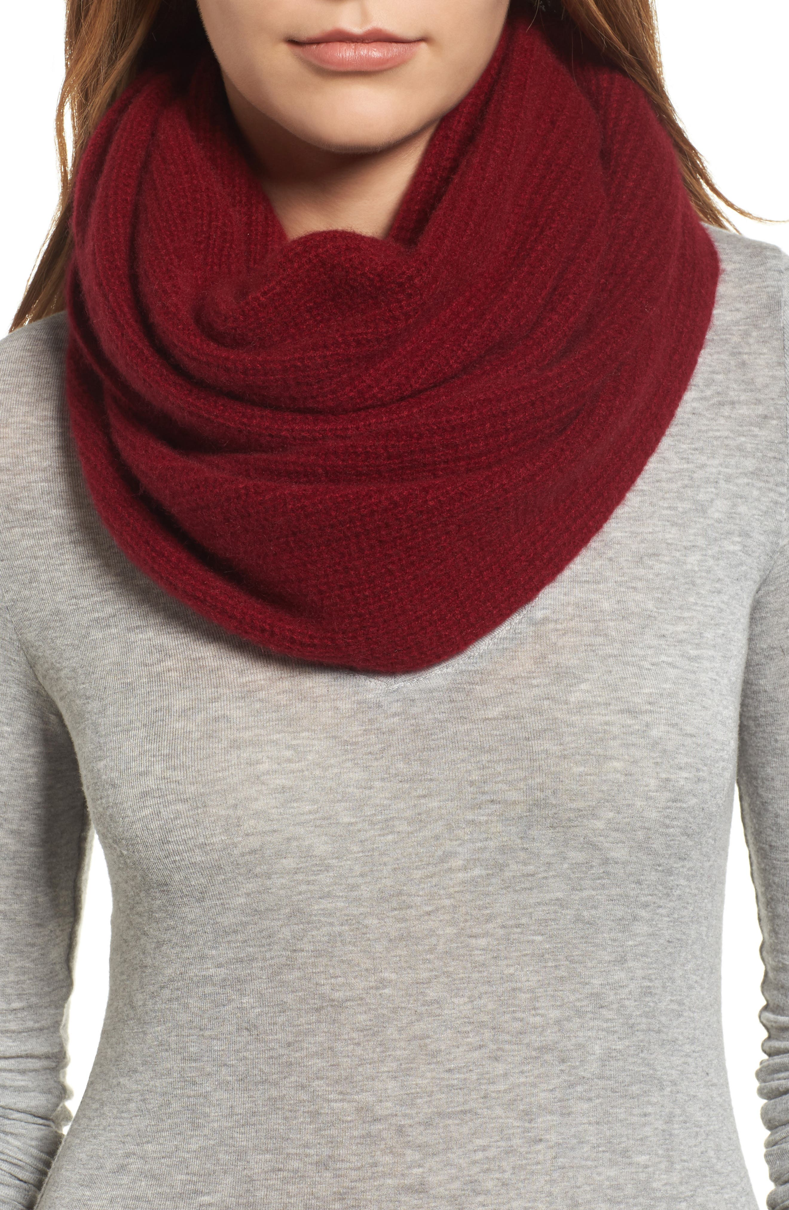Cashmere Infinity Scarf,                             Main thumbnail 4, color,