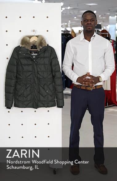 Langstone Faux Fur Trim Quilted Coat, sales video thumbnail