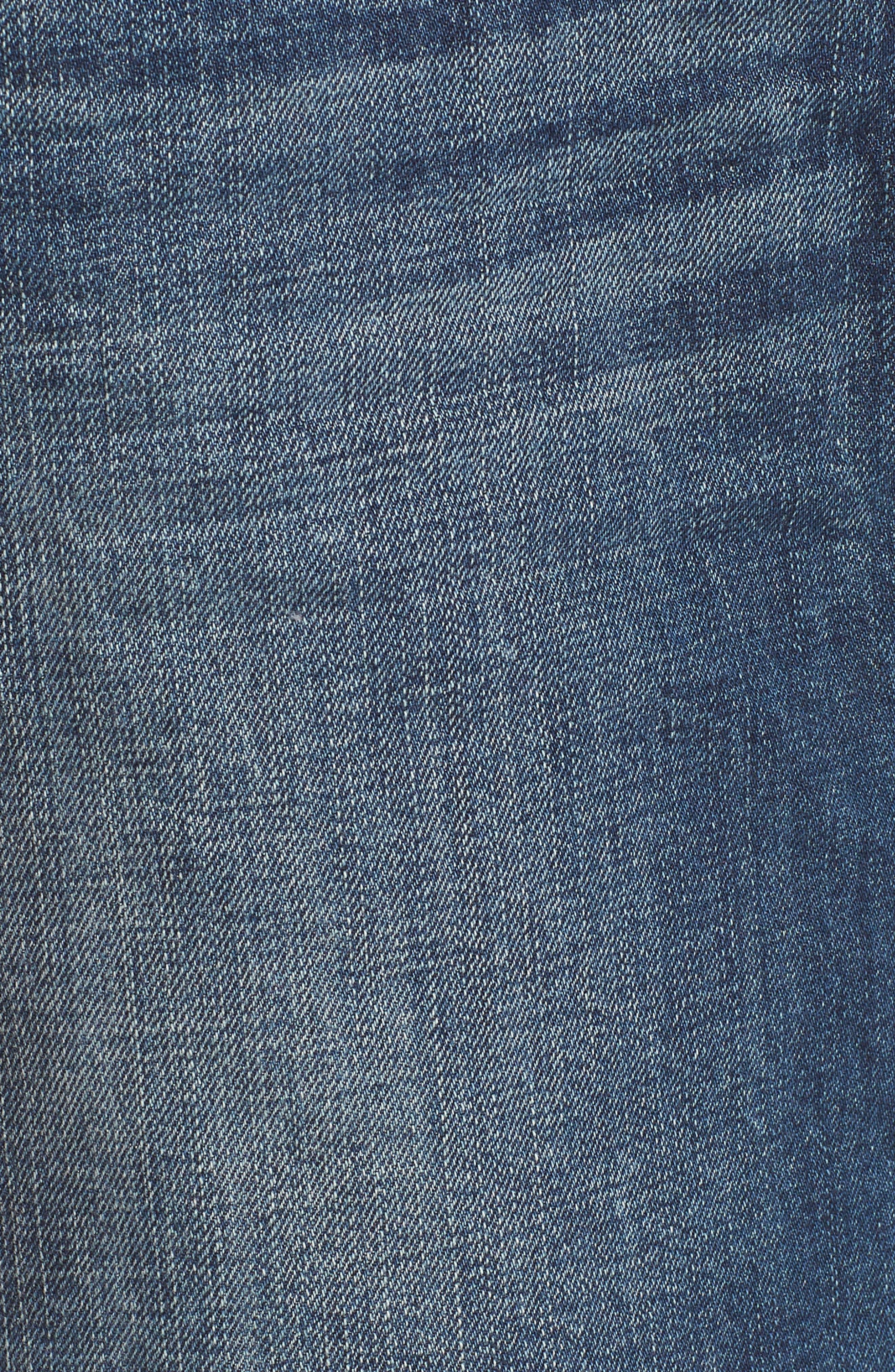 Deconstructed Denim Skirt,                             Alternate thumbnail 5, color,                             401