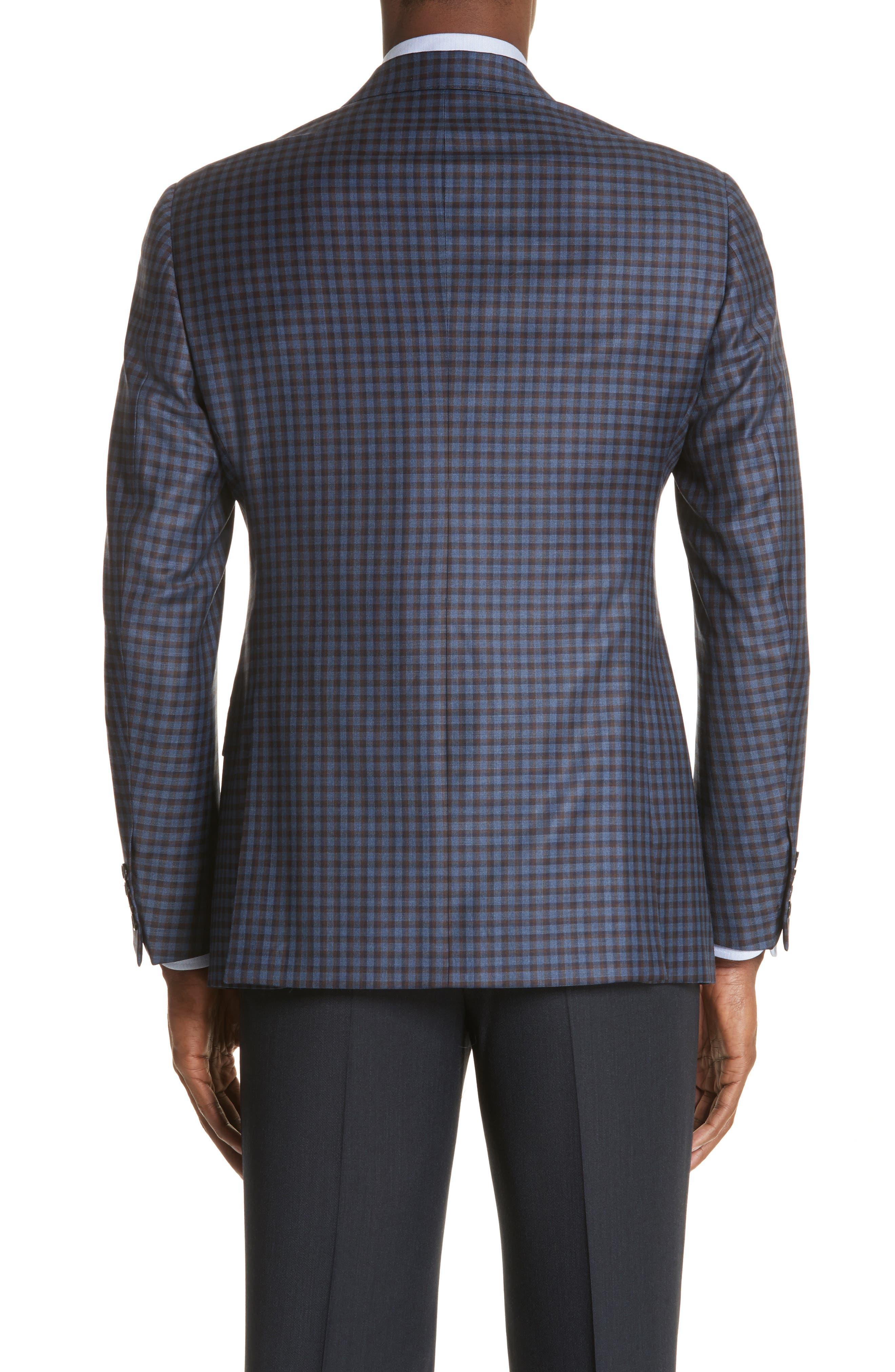 G Line Trim Fit Check Wool Sport Coat,                             Alternate thumbnail 2, color,                             443