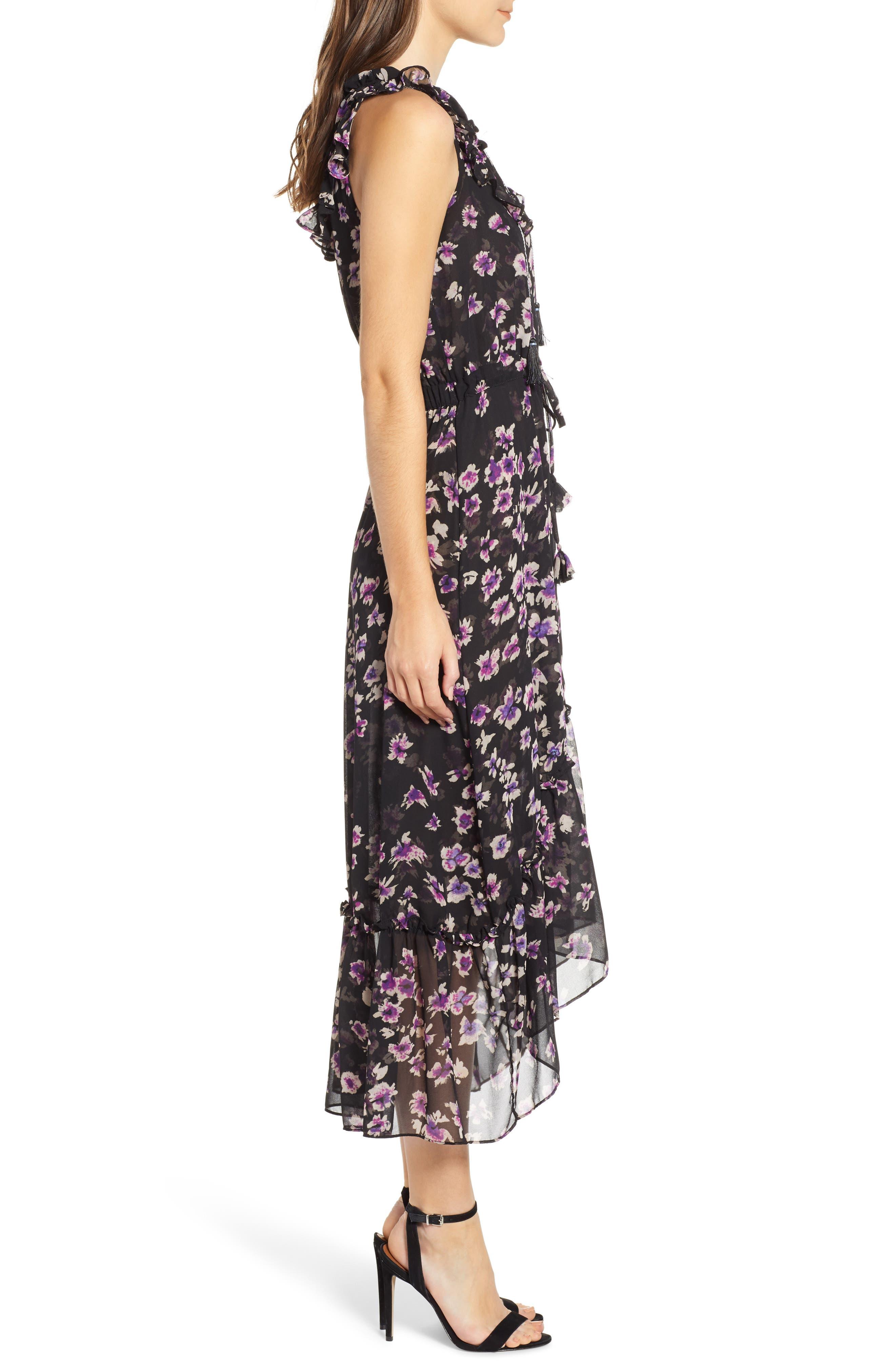 MISA LOS ANGELES,                             Caterine Sleeveless High/Low Dress,                             Alternate thumbnail 4, color,                             009