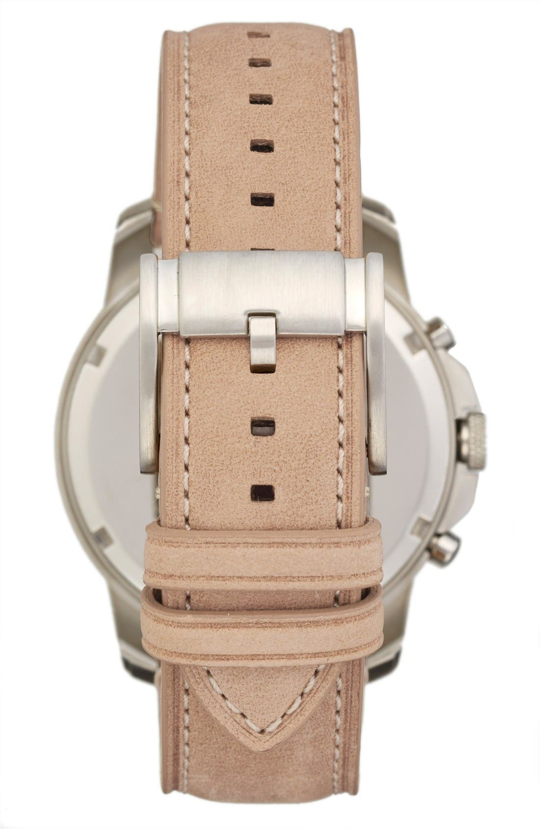'Grant' Round Chronograph Leather Strap Watch, 44mm,                             Alternate thumbnail 54, color,