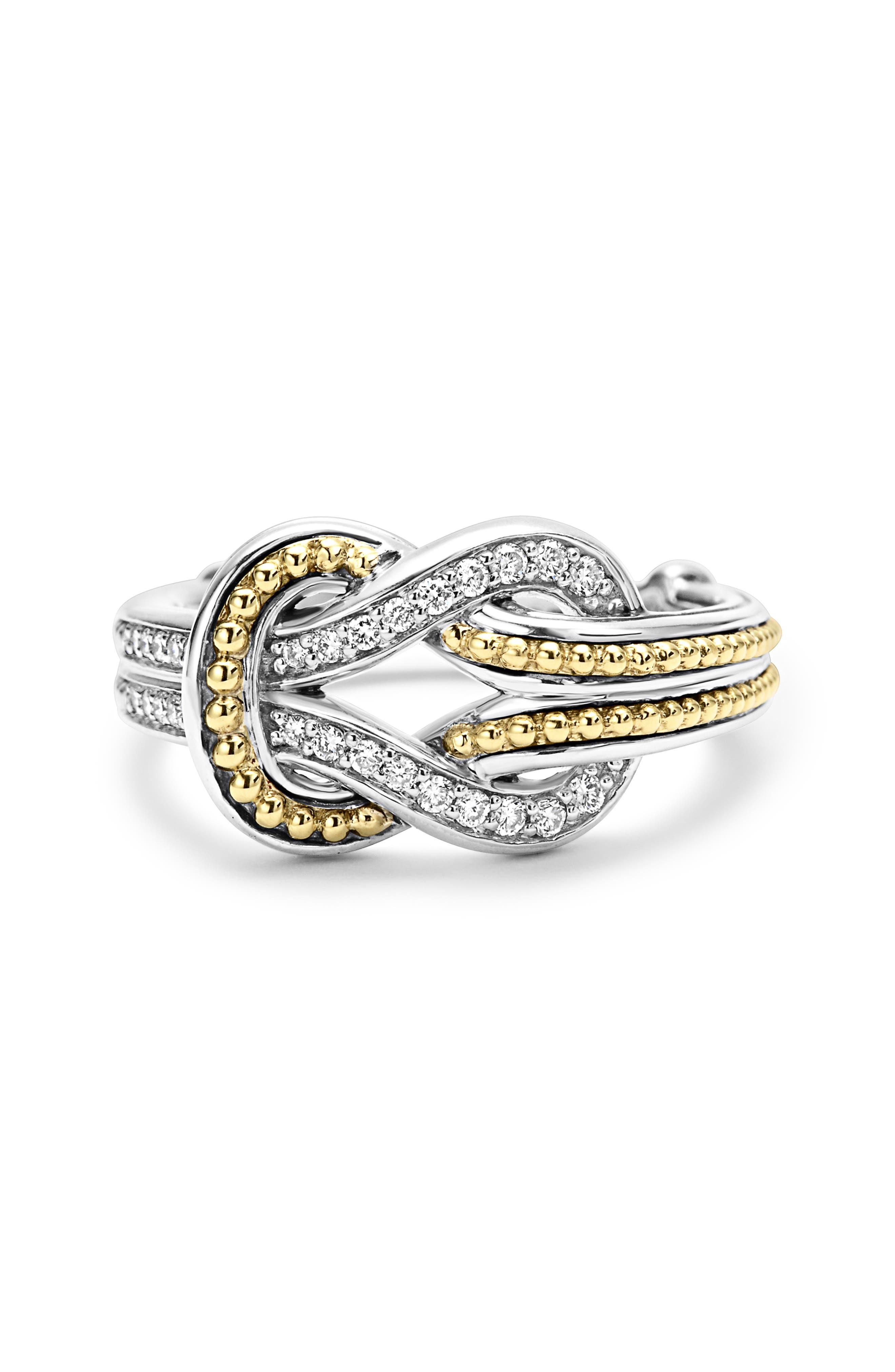 'Newport' Diamond Knot Ring,                             Alternate thumbnail 5, color,                             040