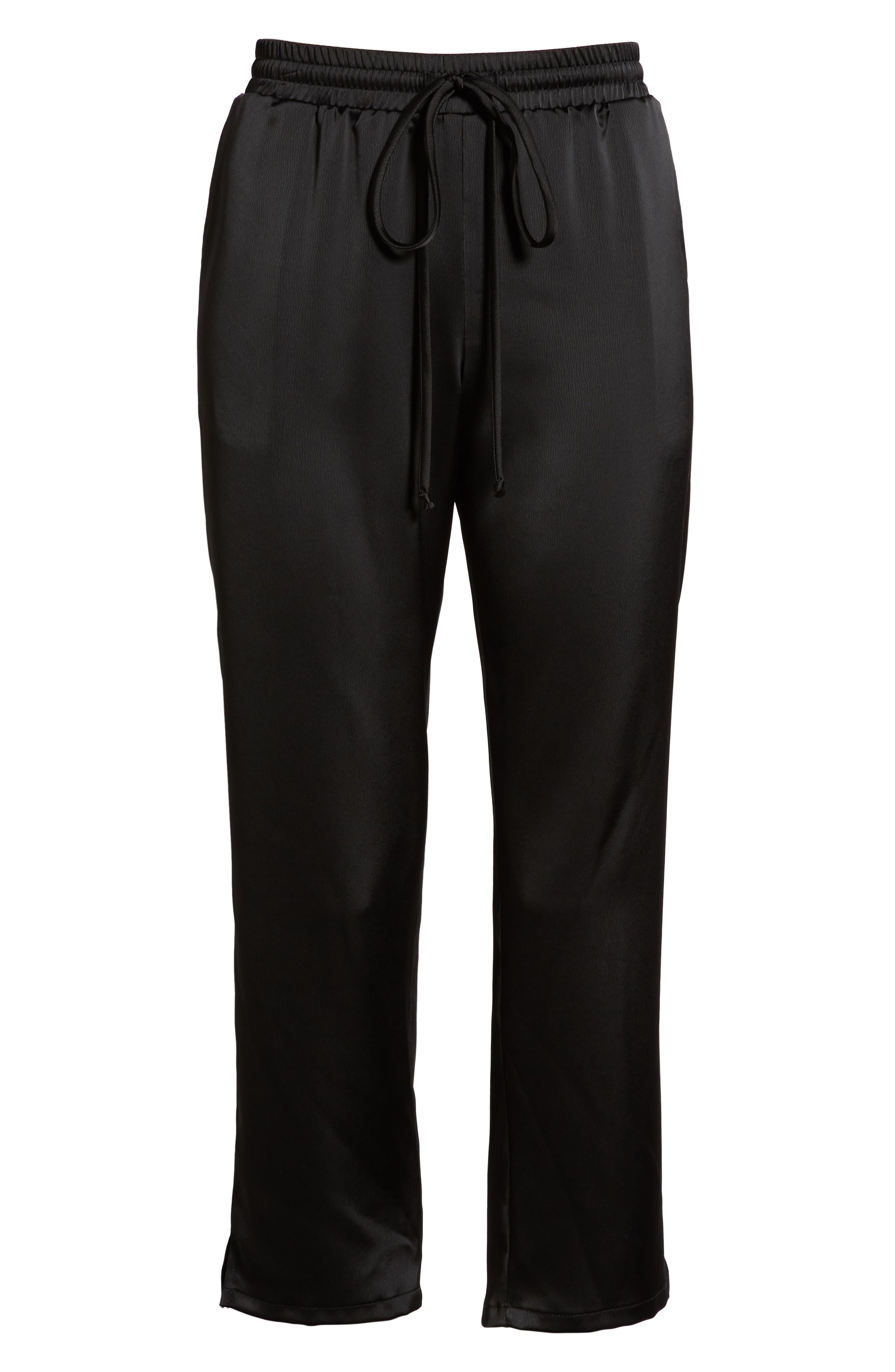 x Glam Squad Simple Jogger Pants,                             Alternate thumbnail 8, color,                             BLACK