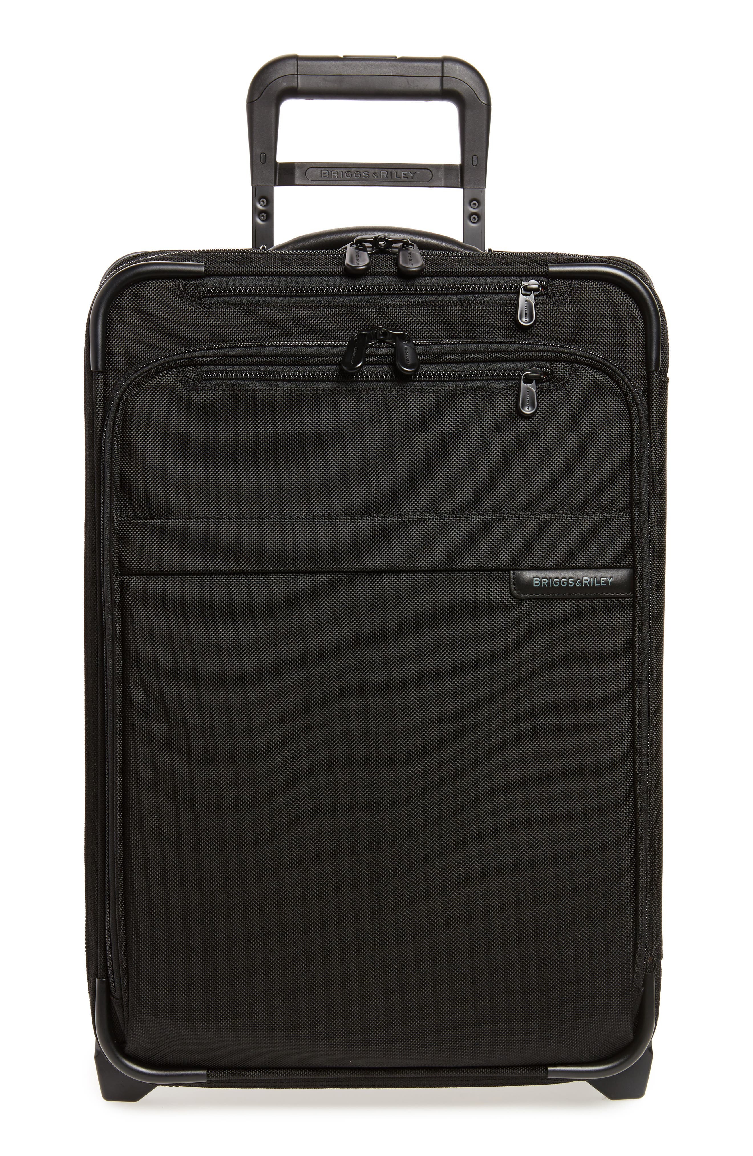 Baseline Domestic Expandable 22-Inch Rolling Carry-On,                             Alternate thumbnail 2, color,                             BLACK