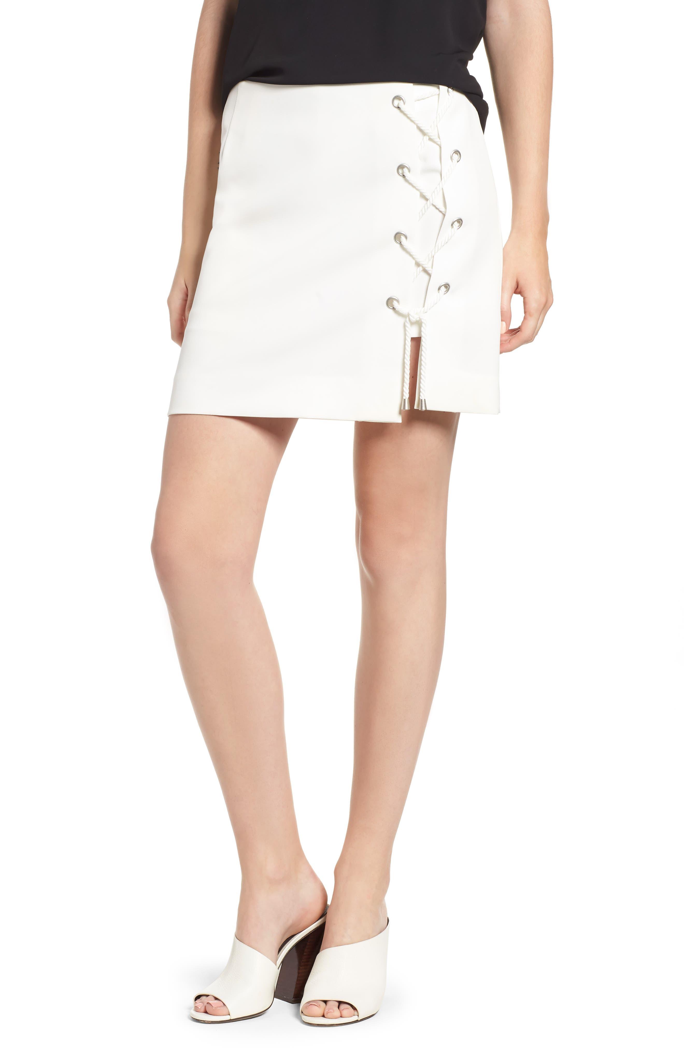 Stevia Miniskirt,                             Main thumbnail 1, color,                             100