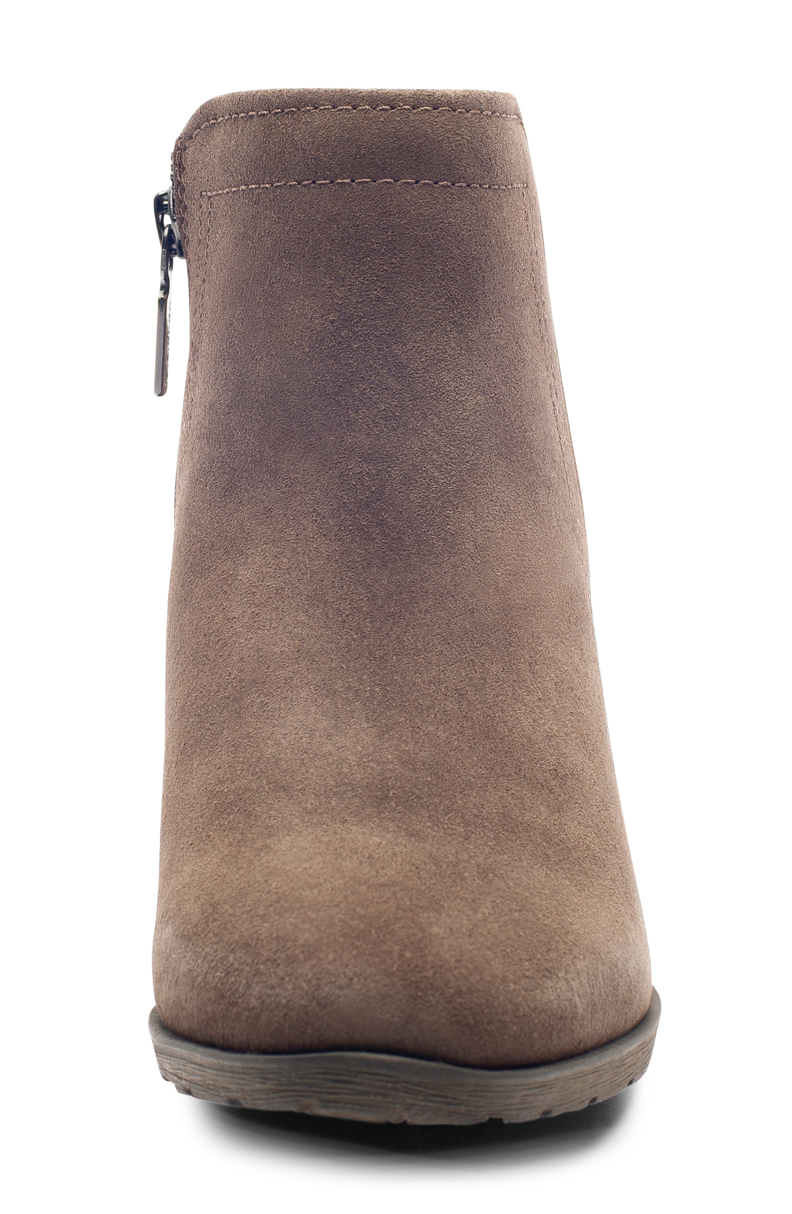 'Valli' Waterproof  Bootie,                             Alternate thumbnail 3, color,                             DARK TAUPE SUEDE