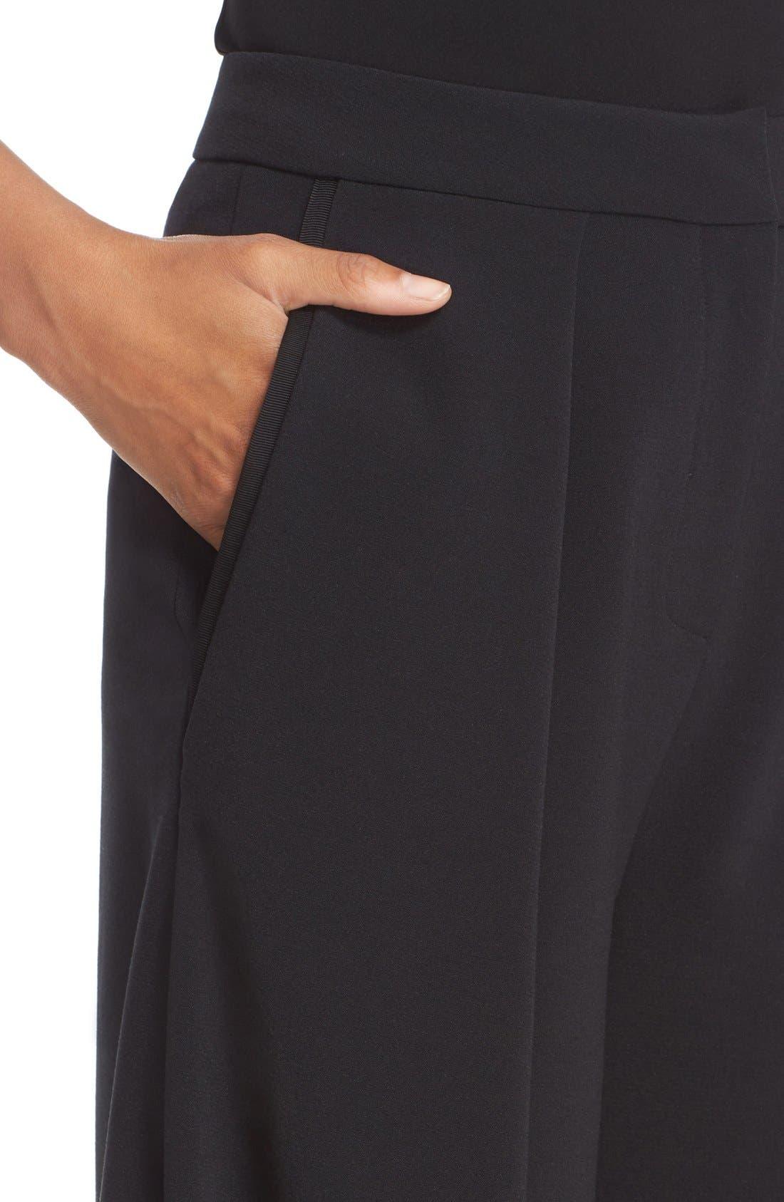 Devon Culottes,                             Alternate thumbnail 3, color,                             BLACK