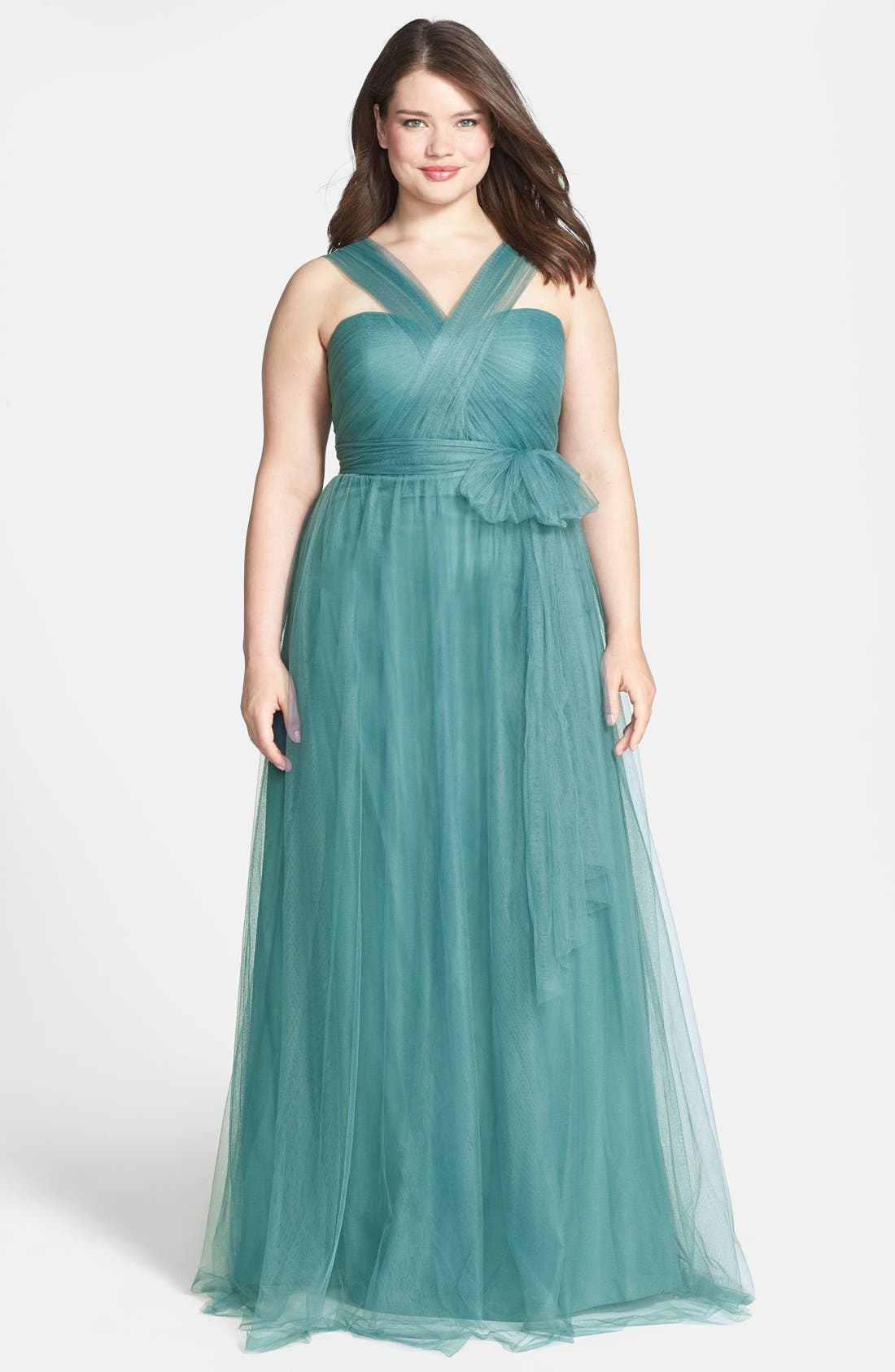 Annabelle Convertible Tulle Column Dress,                             Alternate thumbnail 130, color,