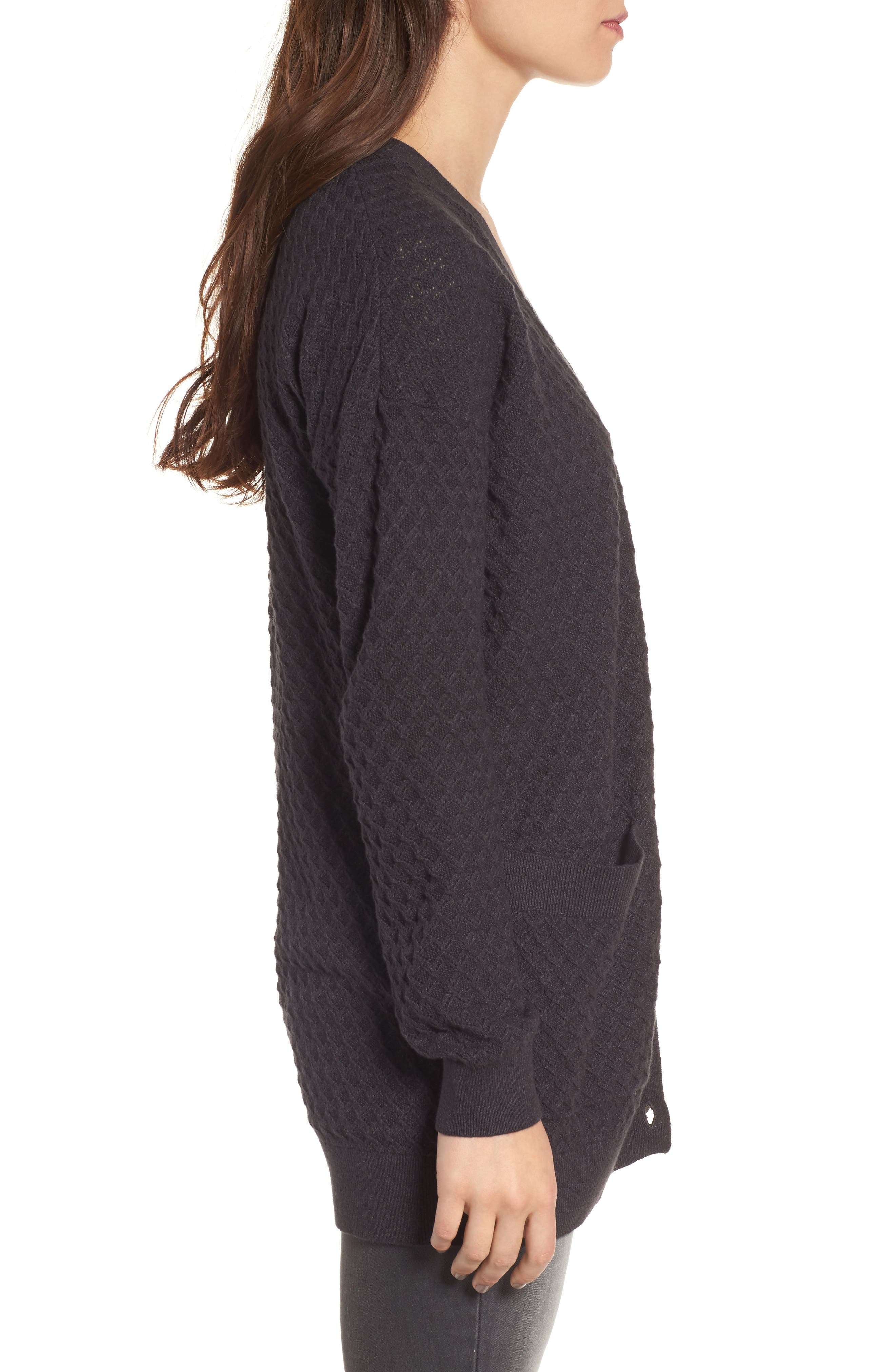 Pointelle Cardigan Sweater,                             Alternate thumbnail 9, color,