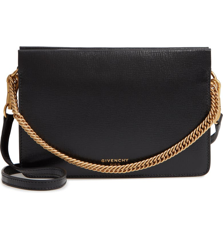451705b26775 Givenchy Cross 3 Leather   Suede Crossbody Bag
