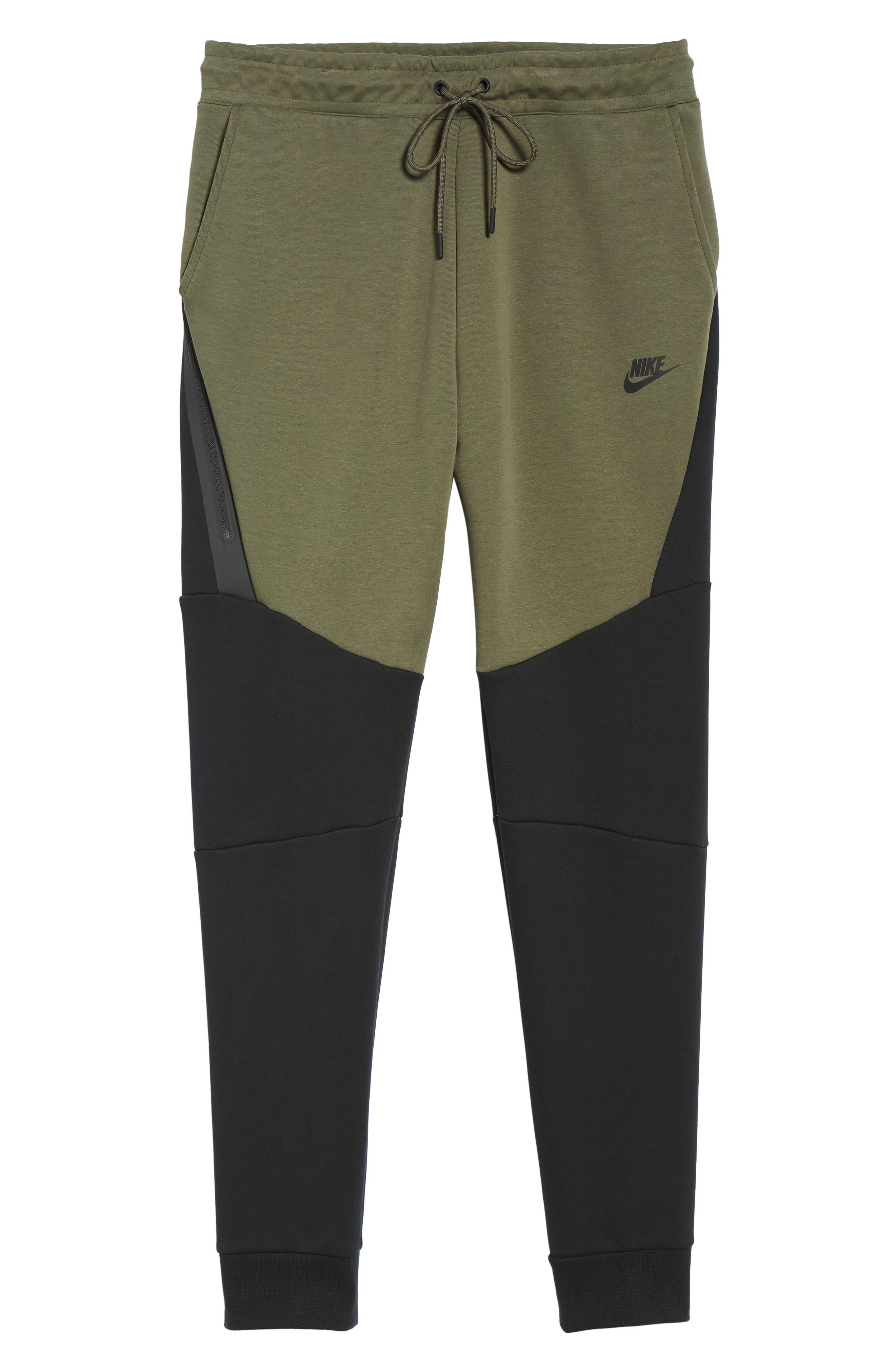 Tech Fleece Jogger Pants,                             Alternate thumbnail 6, color,                             BLACK/ TWILIGHT MARSH/ BLACK