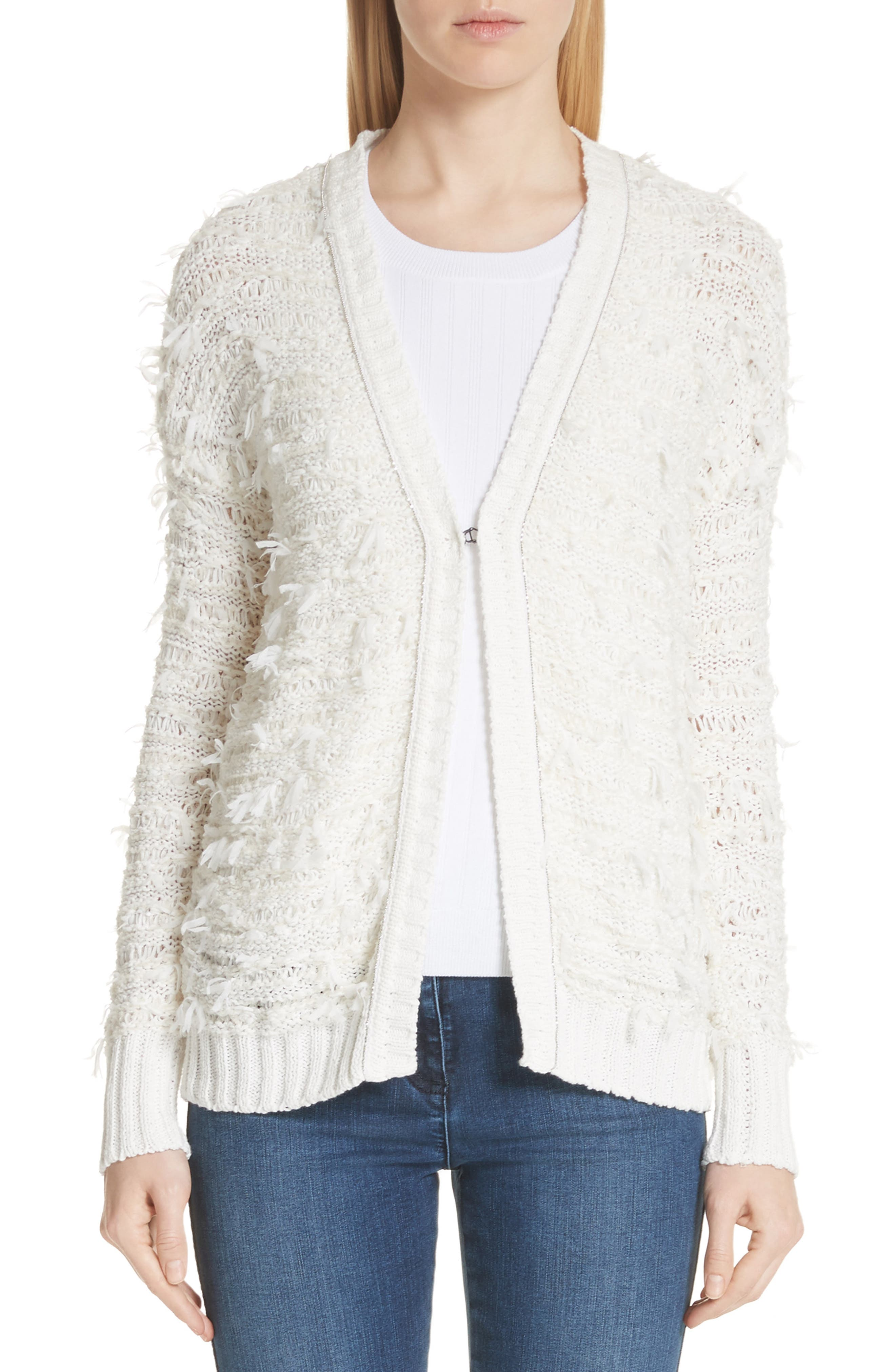 Tufted Knit Cardigan,                         Main,                         color, 900