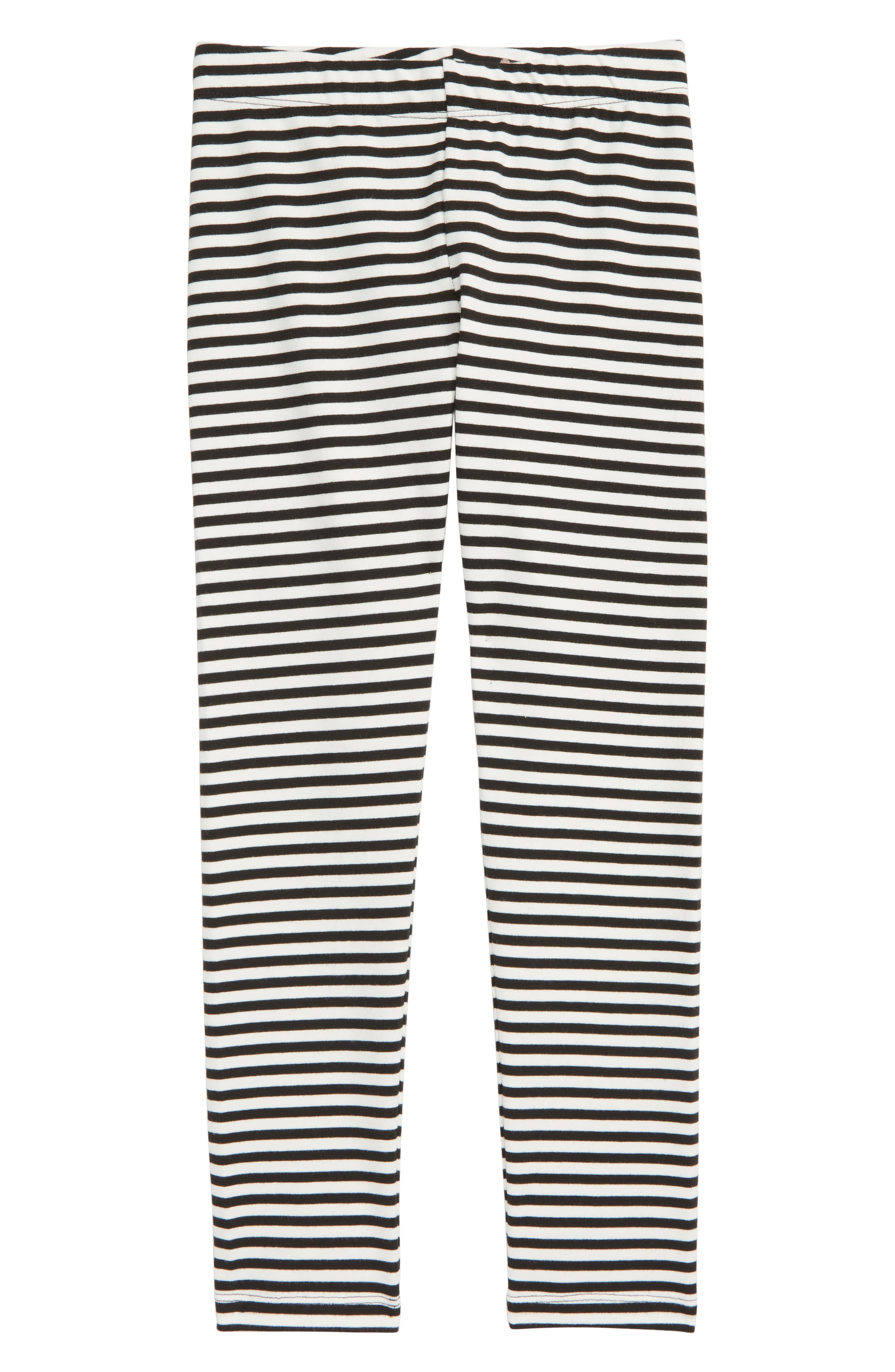 Stripe Leggings,                             Main thumbnail 1, color,                             BLACK AND WHITE STRIPE