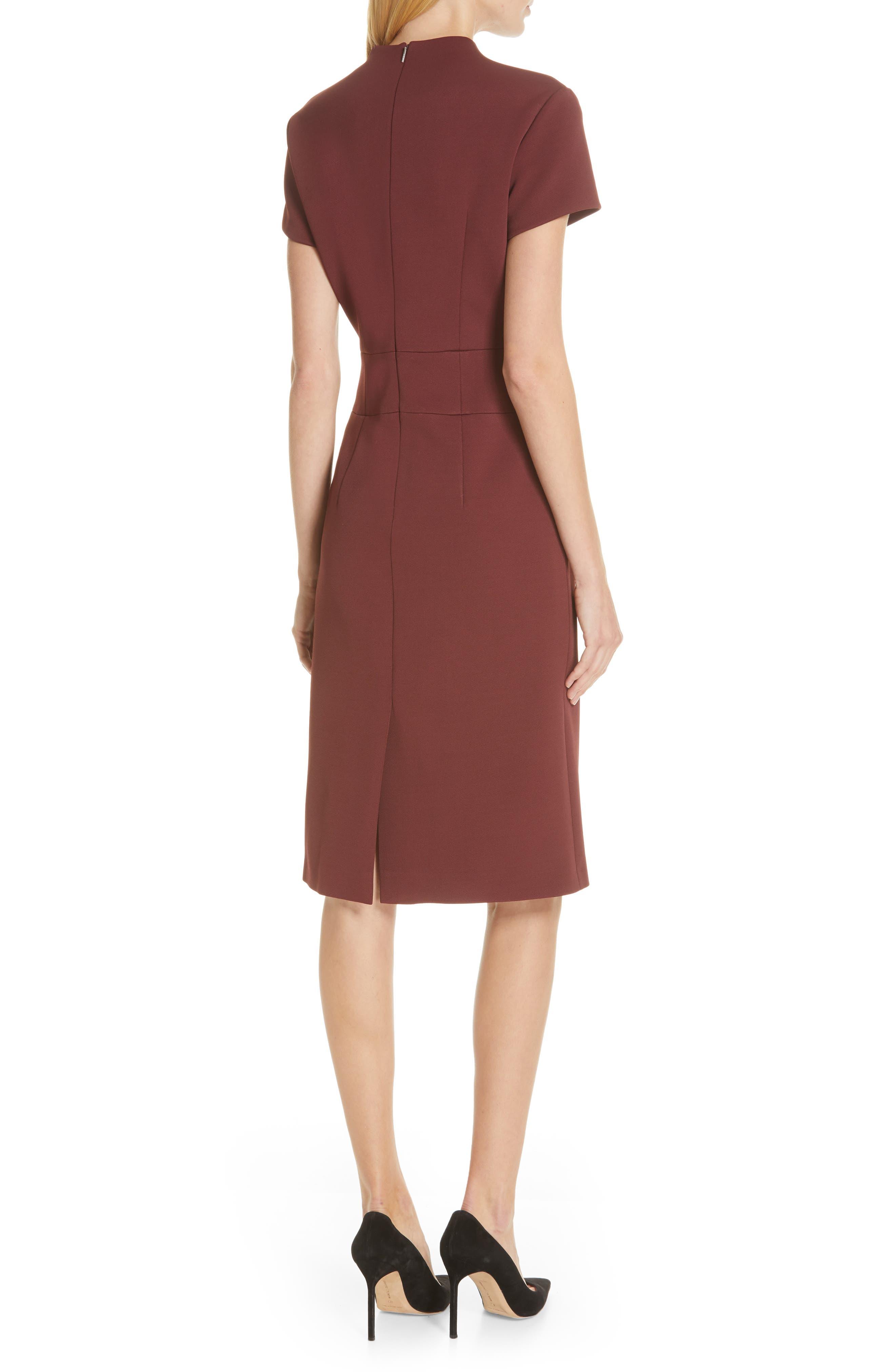 Demiara Sheath Dress,                             Alternate thumbnail 2, color,                             DARK AUBURN