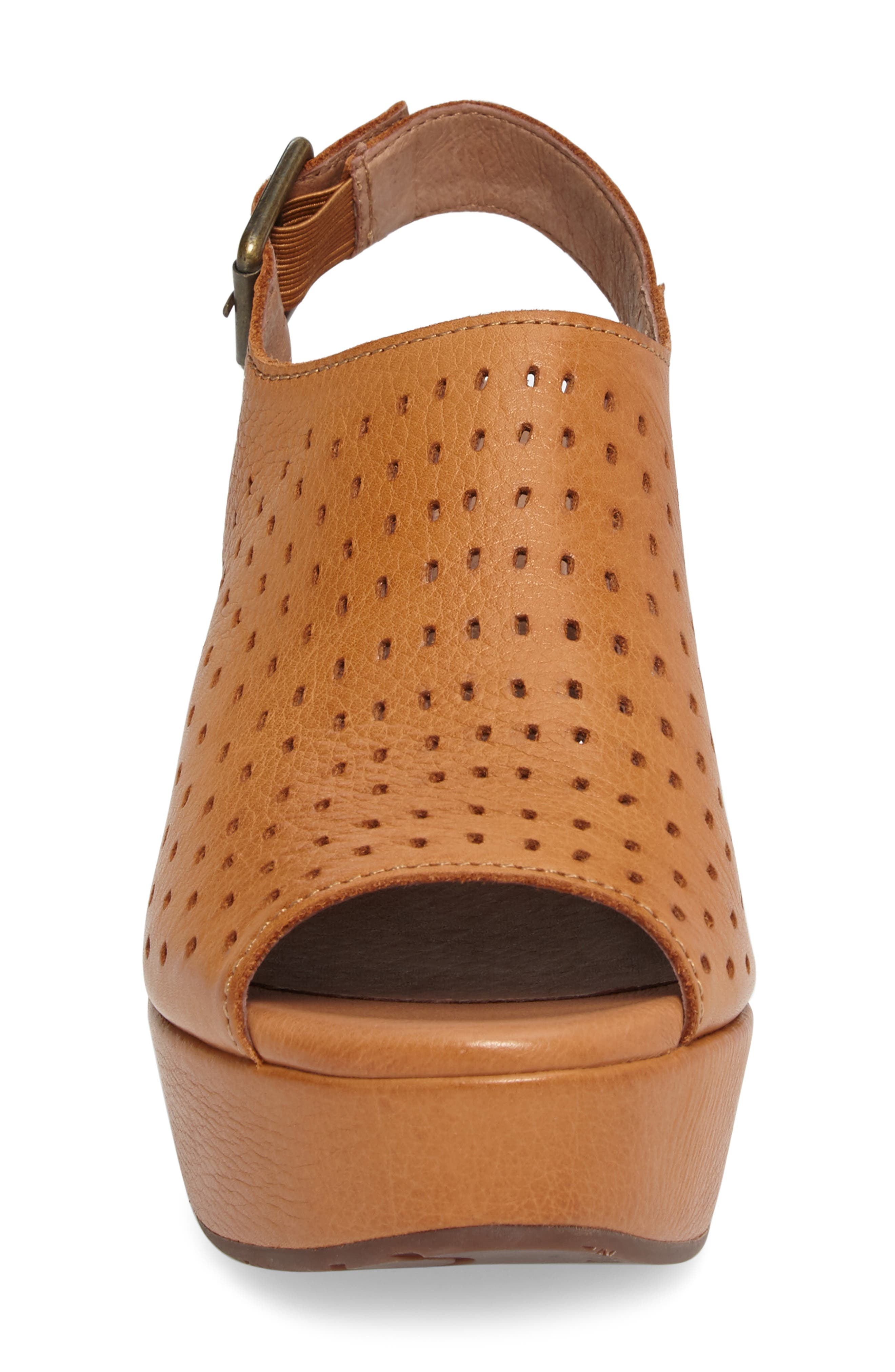 Wala Perforated Wedge Sandal,                             Alternate thumbnail 4, color,                             200