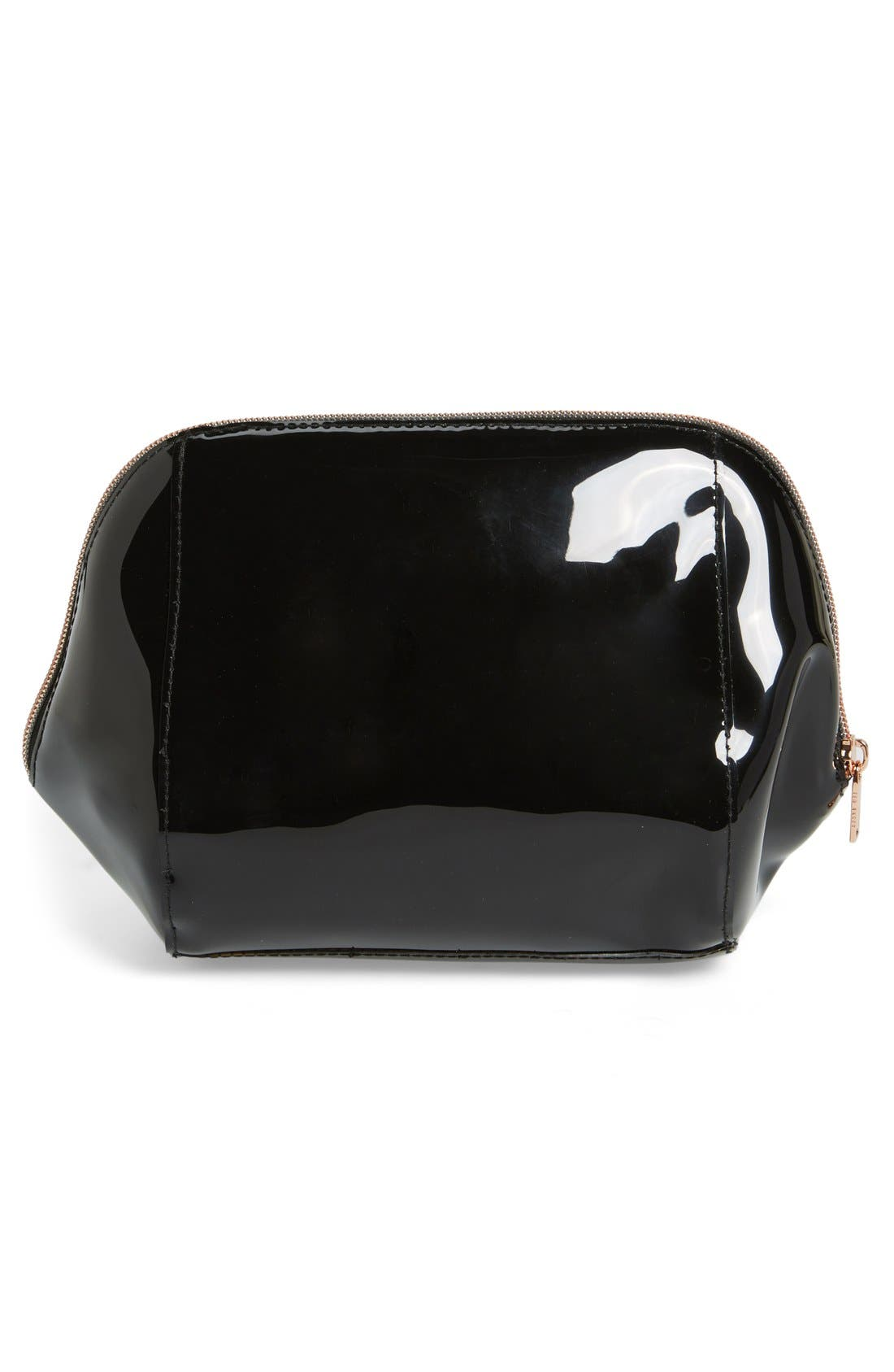 'Rochel - Extra Large Bow' Cosmetics Case,                             Alternate thumbnail 5, color,                             001