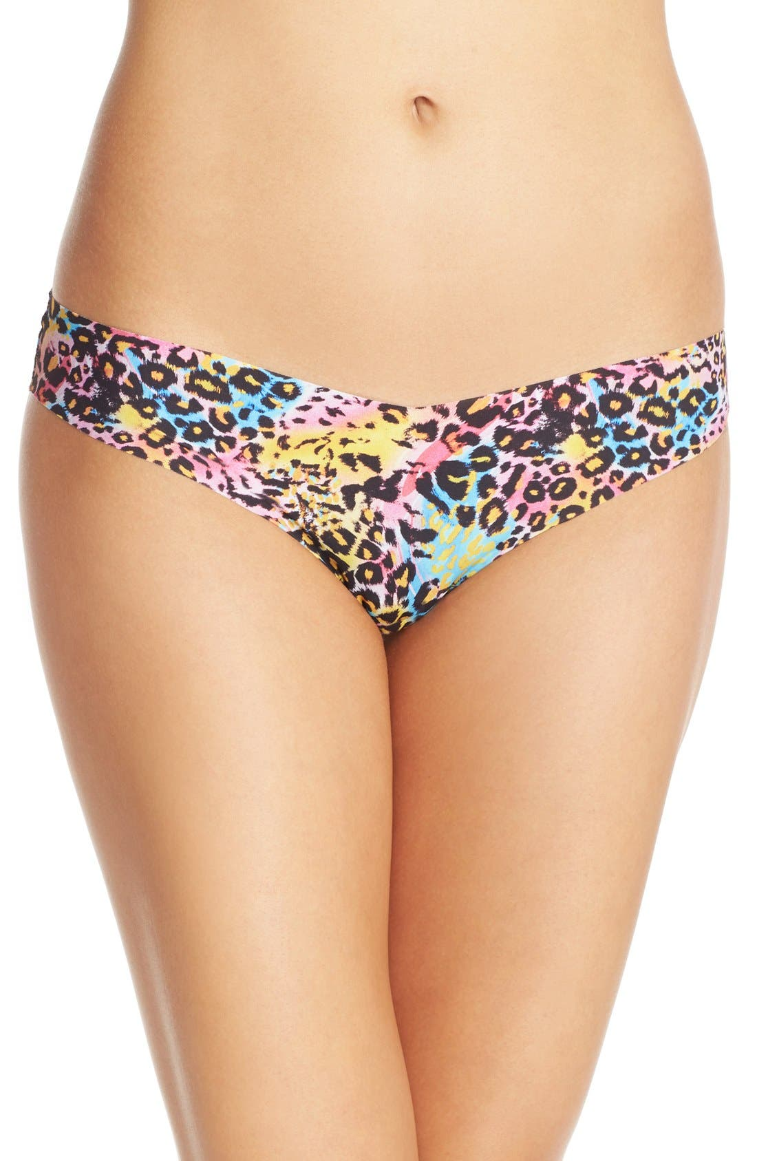 Print Microfiber Thong,                             Main thumbnail 73, color,