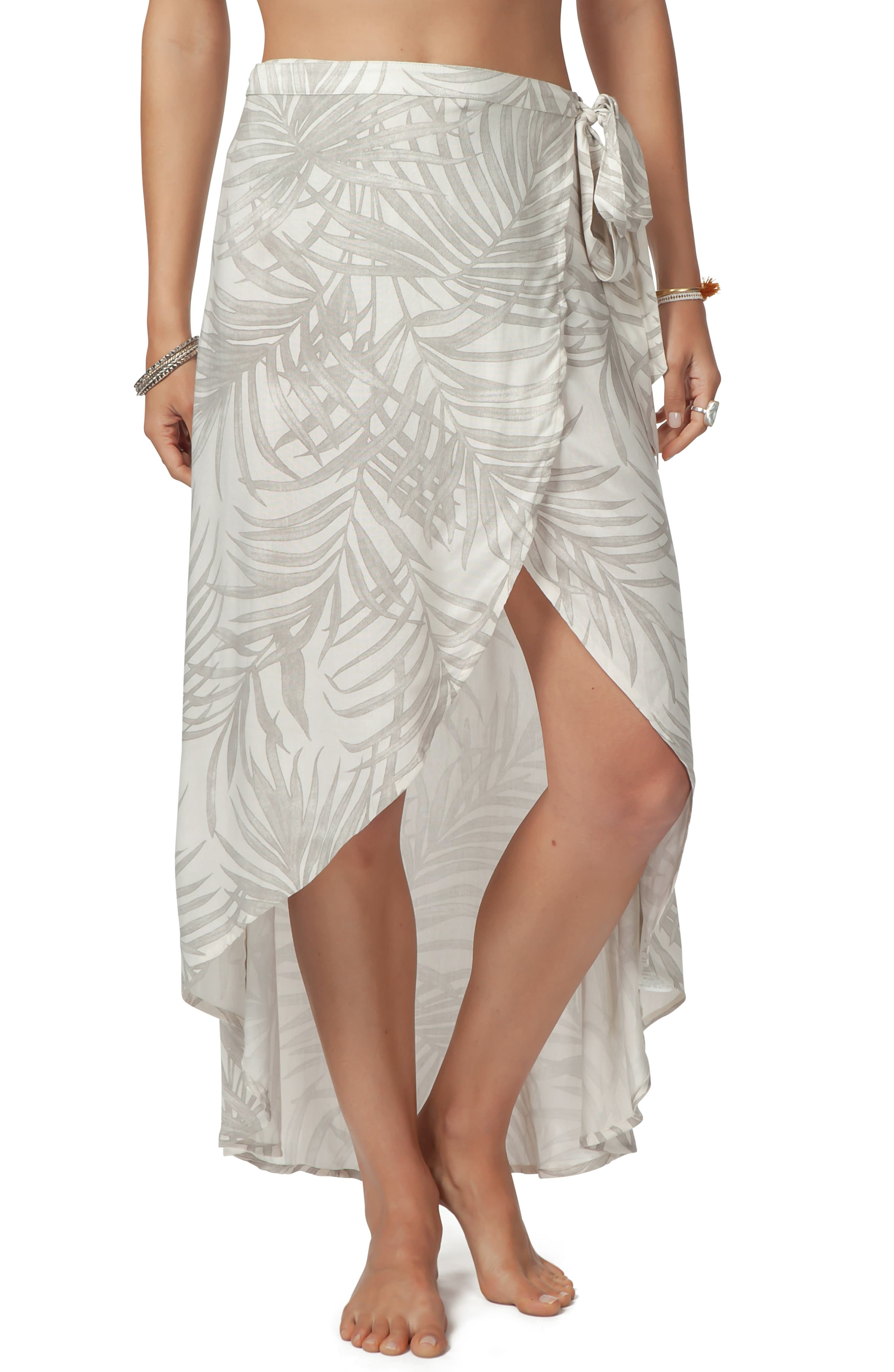 Rip Curl Shorelines Wrap Skirt, Ivory
