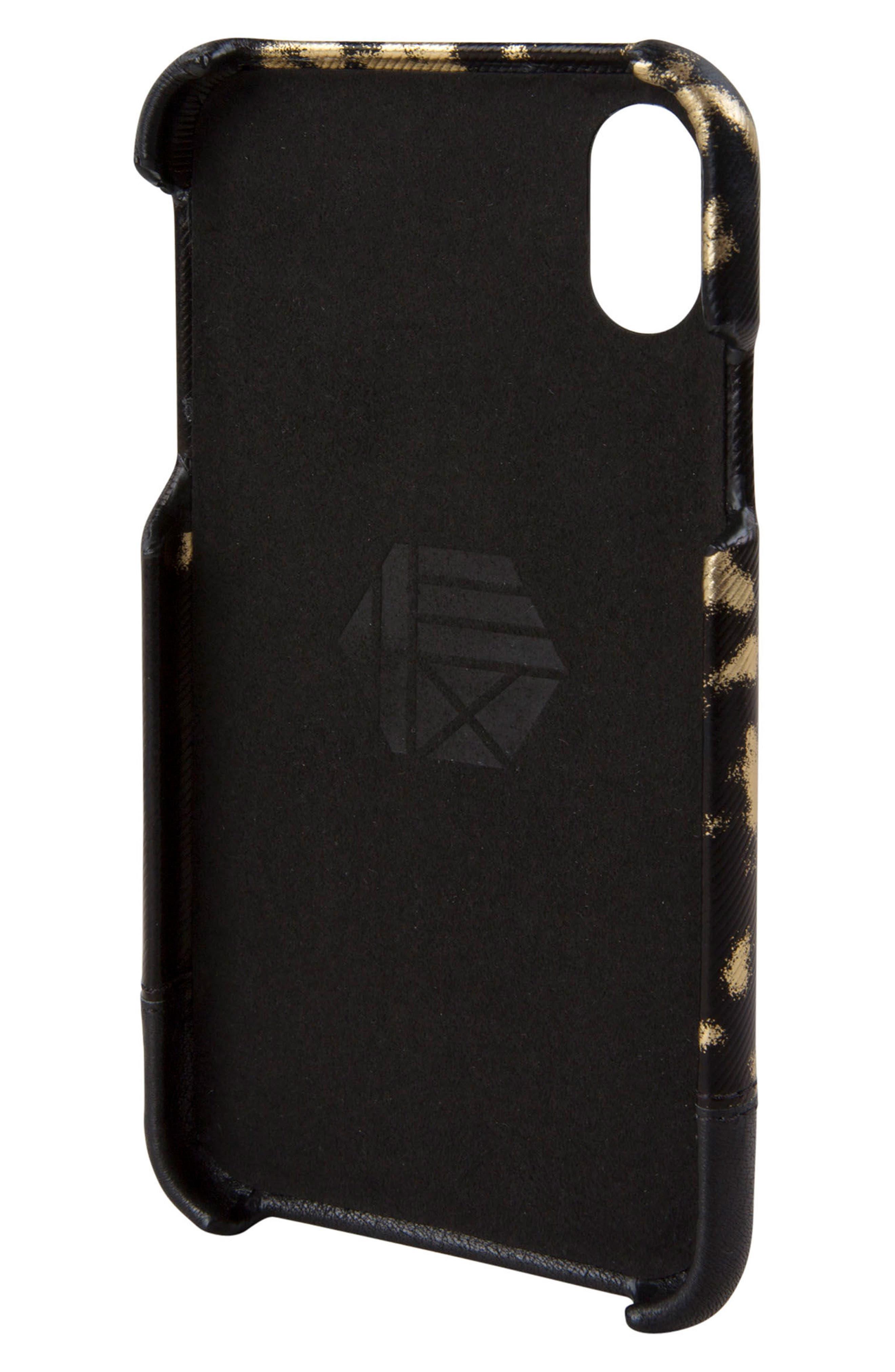 Focus Leather iPhone X Case,                             Alternate thumbnail 3, color,                             013