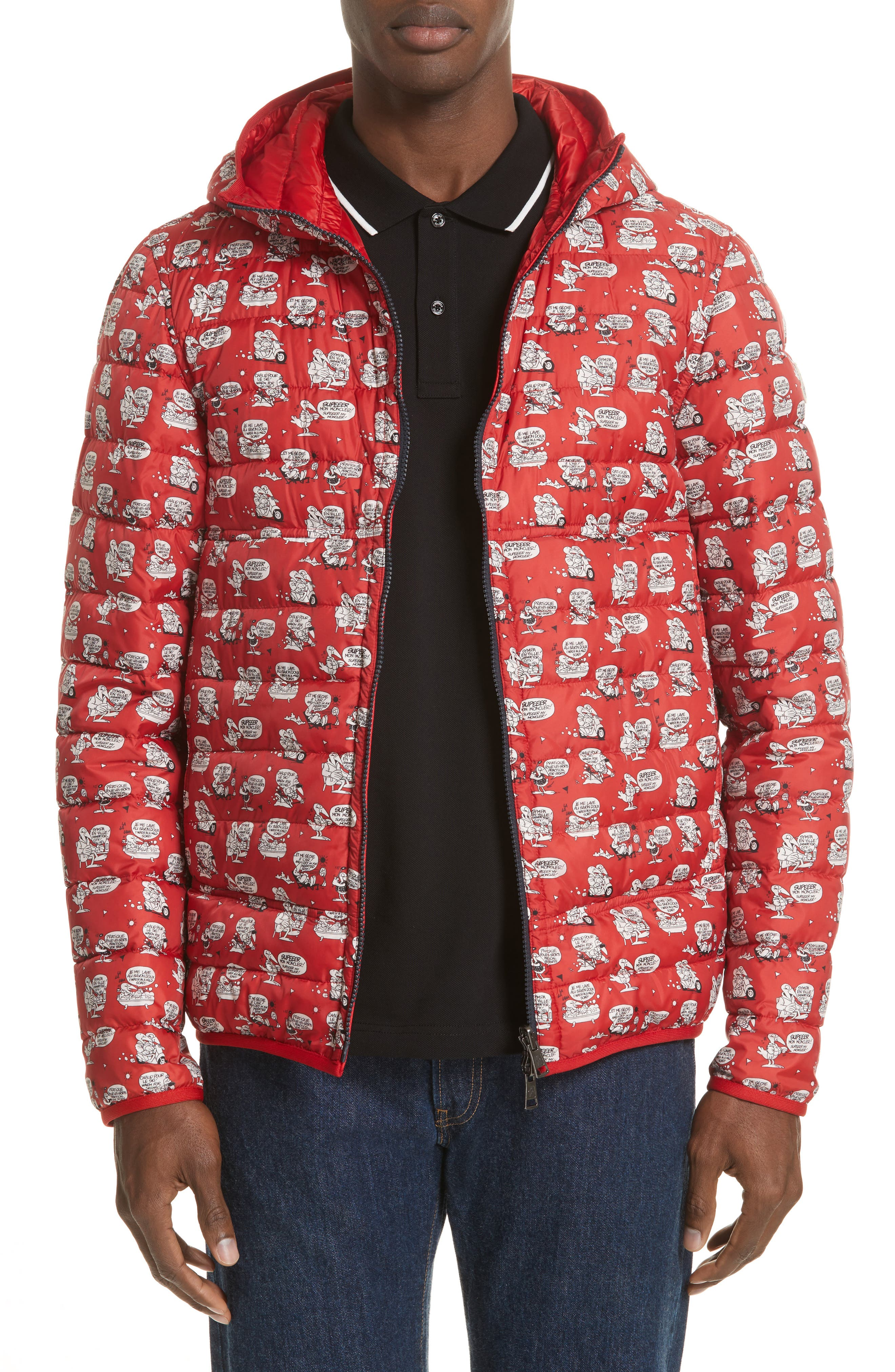Oise Reversible Down Jacket,                             Alternate thumbnail 5, color,                             DARK RED