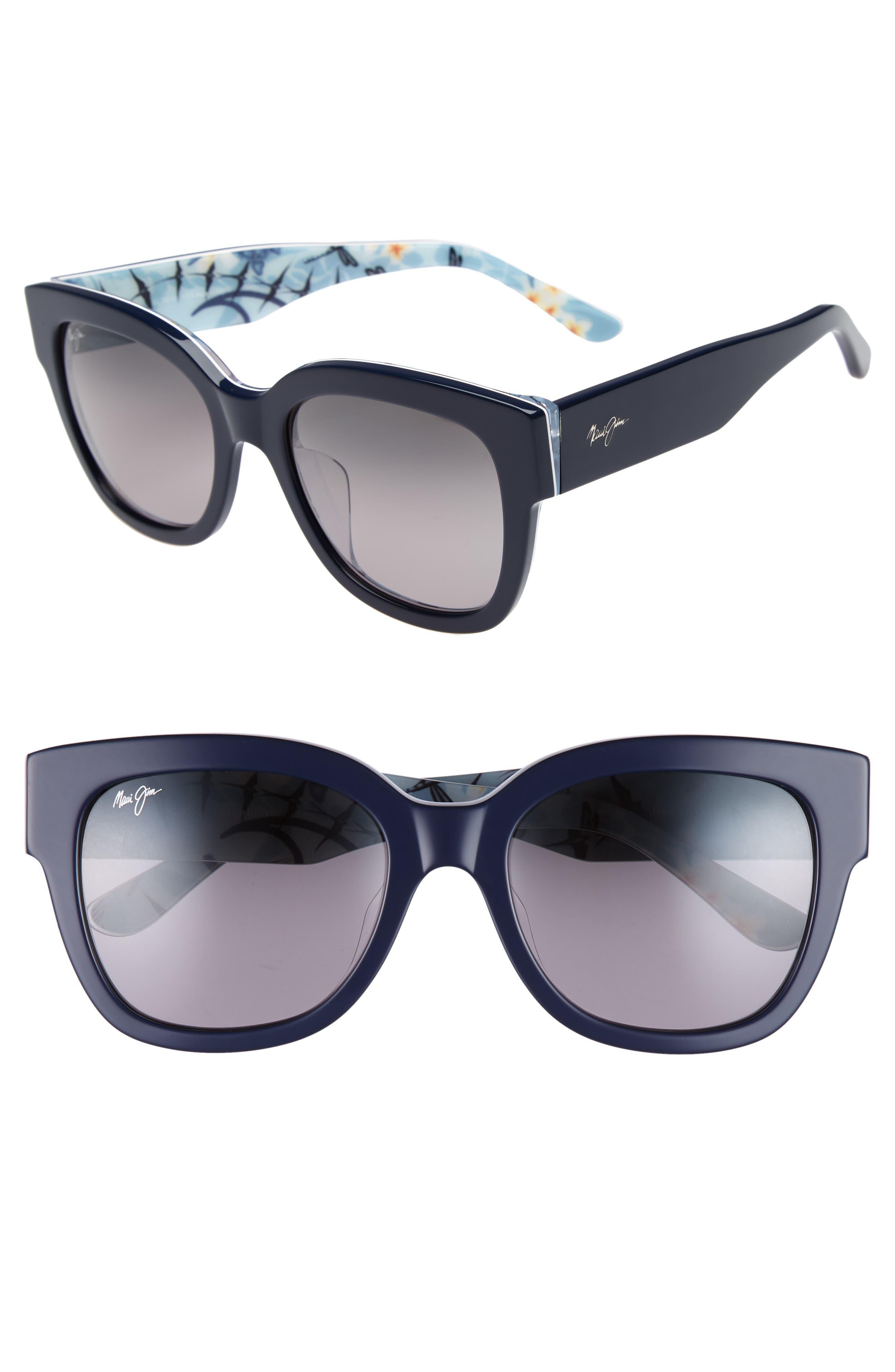 54mm Rhythm Polarized Sunglasses,                             Main thumbnail 1, color,                             NAVY BLUE/ NEUTRAL GREY