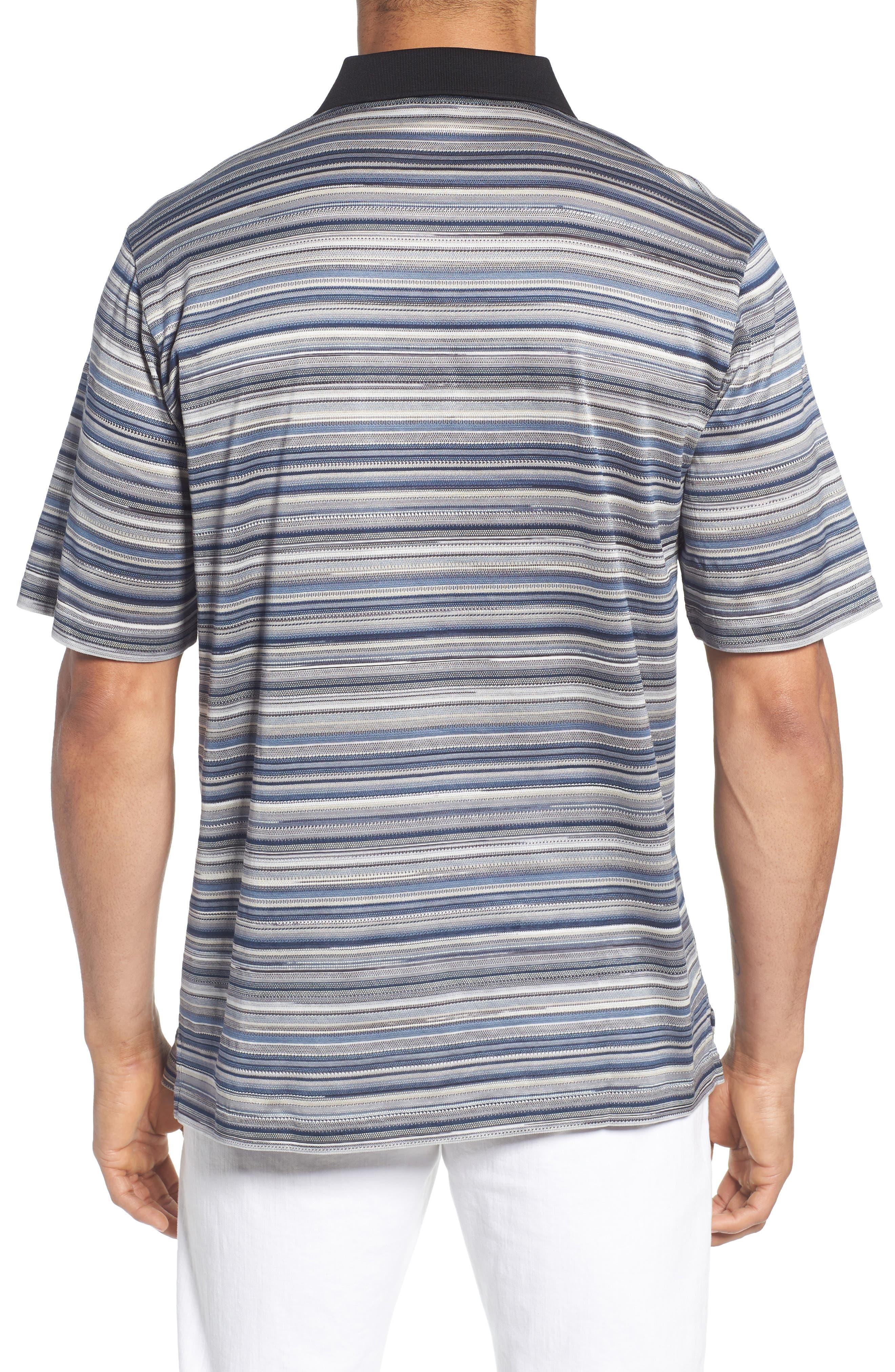 Stripe Mercerized Cotton Polo,                             Alternate thumbnail 2, color,