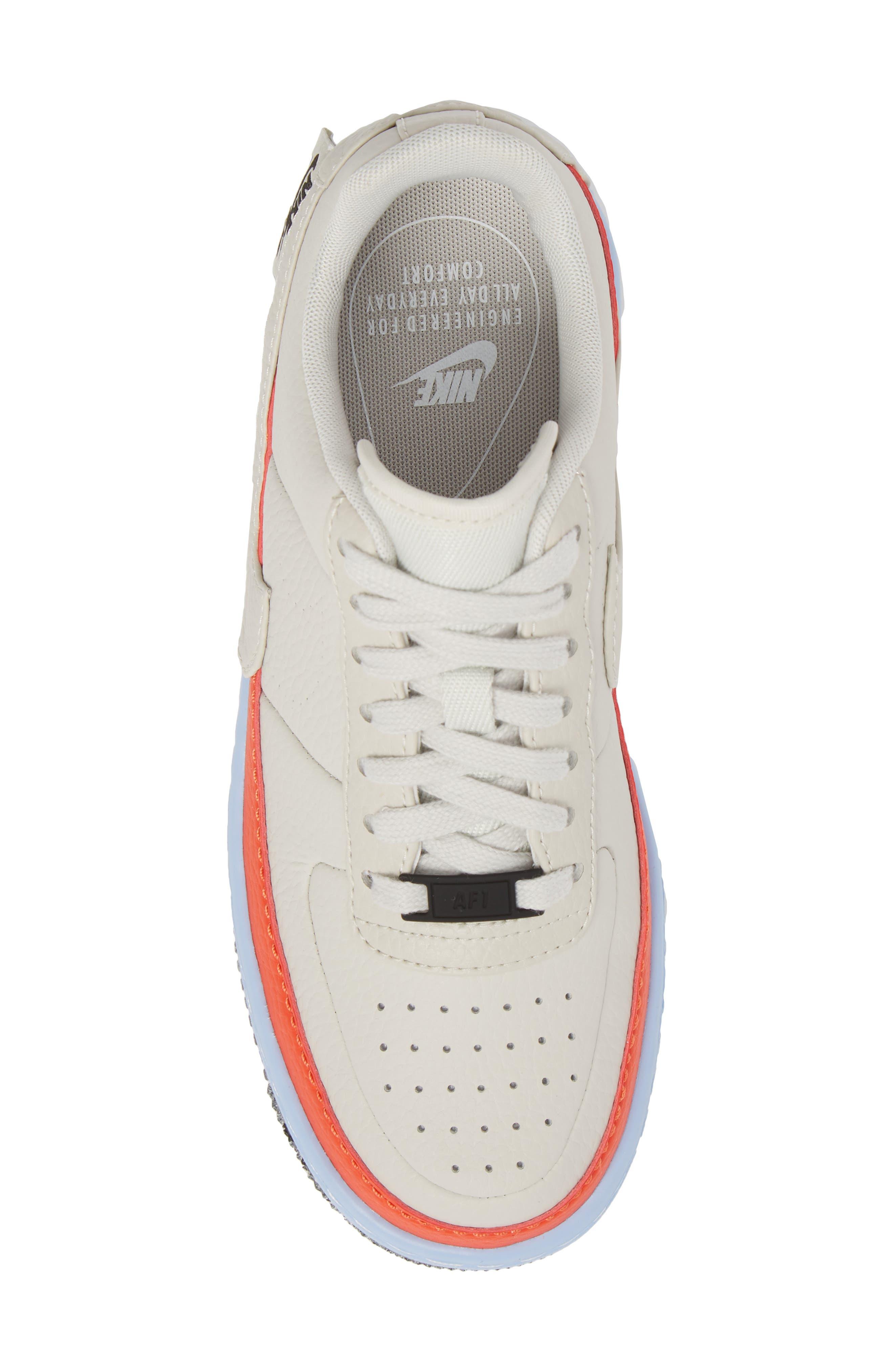 Air Force 1 Jester XX Sneaker,                             Alternate thumbnail 5, color,                             LIGHT BONE/ TEAM ORANGE