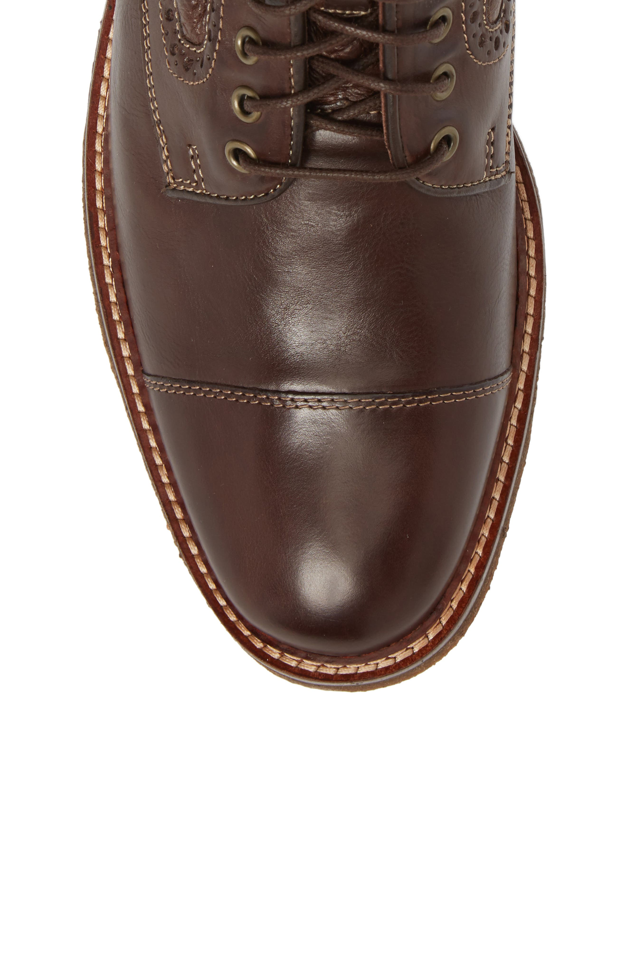 Forrester Genuine Shearling Lined Cap Toe Boot,                             Alternate thumbnail 5, color,
