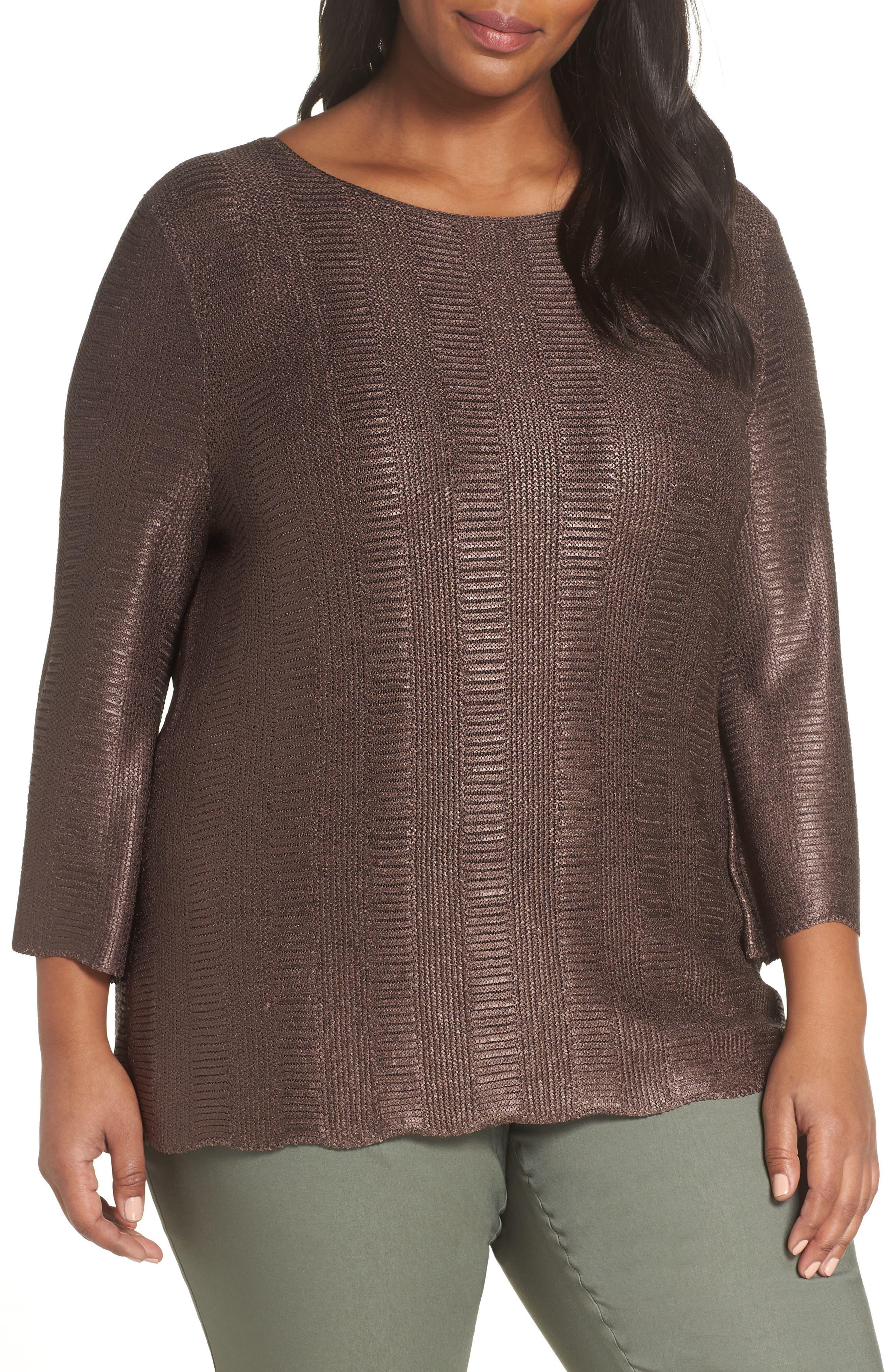 Easy Edge Metallic Knit Top, Main, color, 500