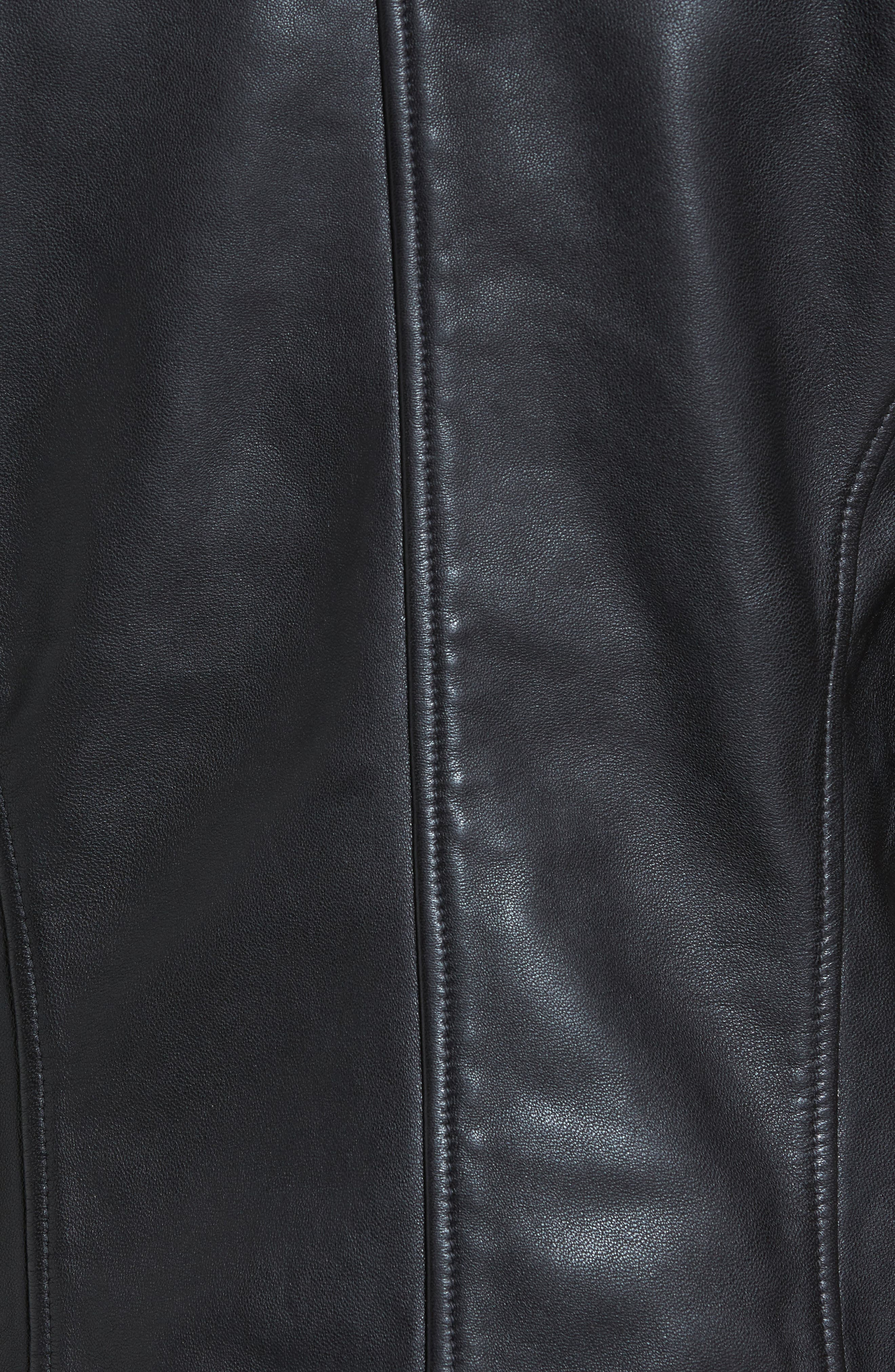 Studded Leather Jacket,                             Alternate thumbnail 6, color,