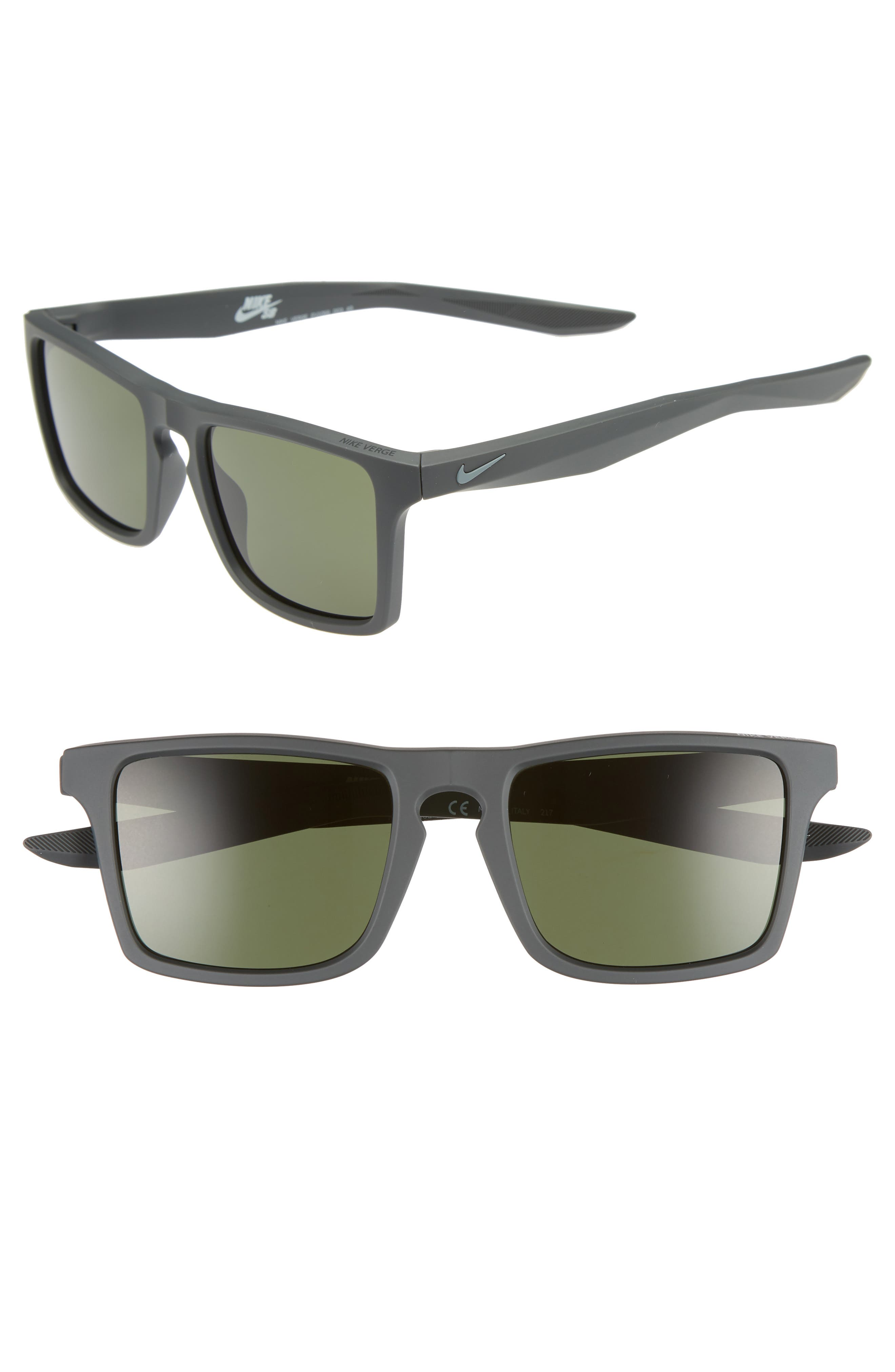Nike Verge 52Mm Sunglasses - Anthracite/ Cool Grey/ Green