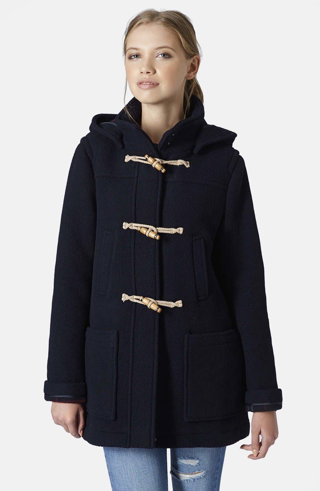 Hooded Duffle Coat, Main, color, 410
