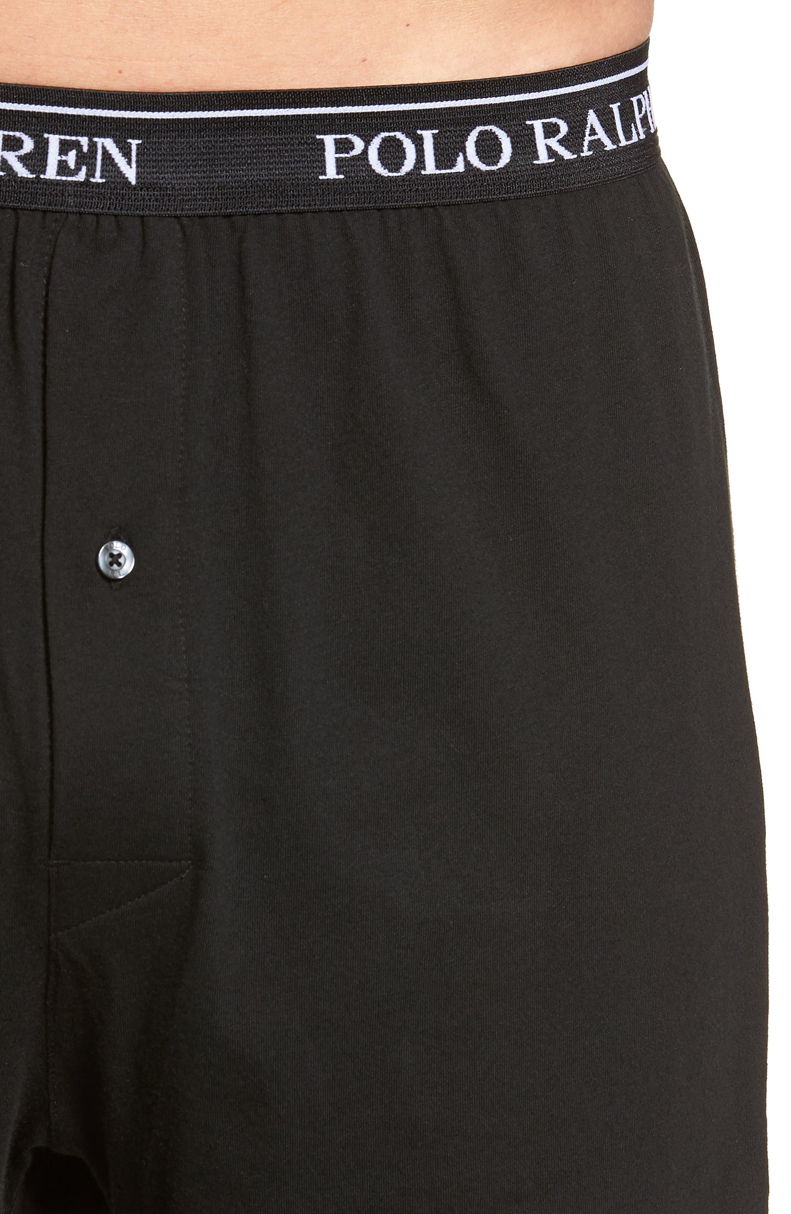 Polo Ralph Lauren 3-Pack Cotton Boxers,                             Alternate thumbnail 5, color,                             POLO BLACK