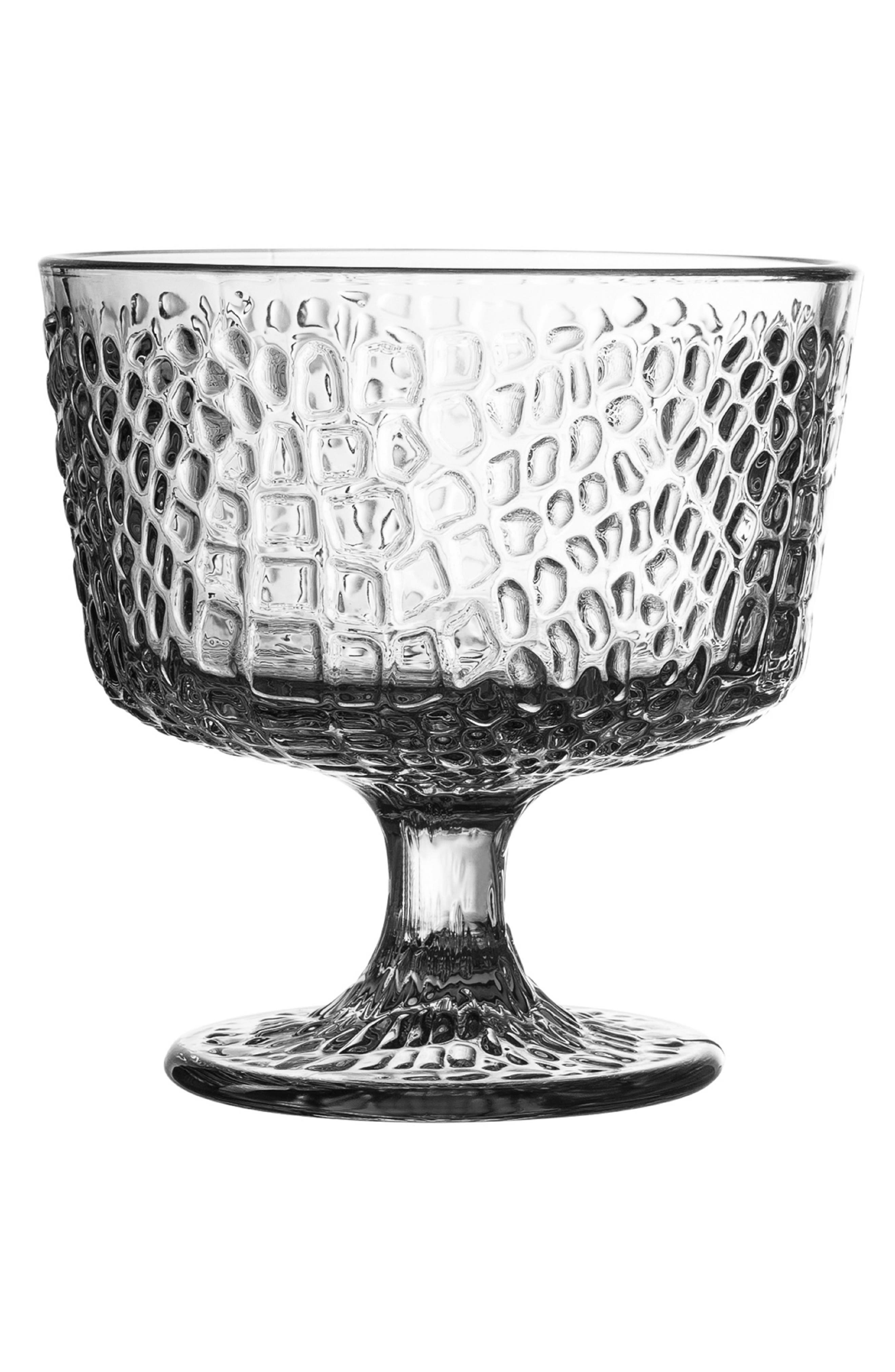 Bistro Crocodile Set of 4 Pedestal Bowls,                             Main thumbnail 1, color,                             100