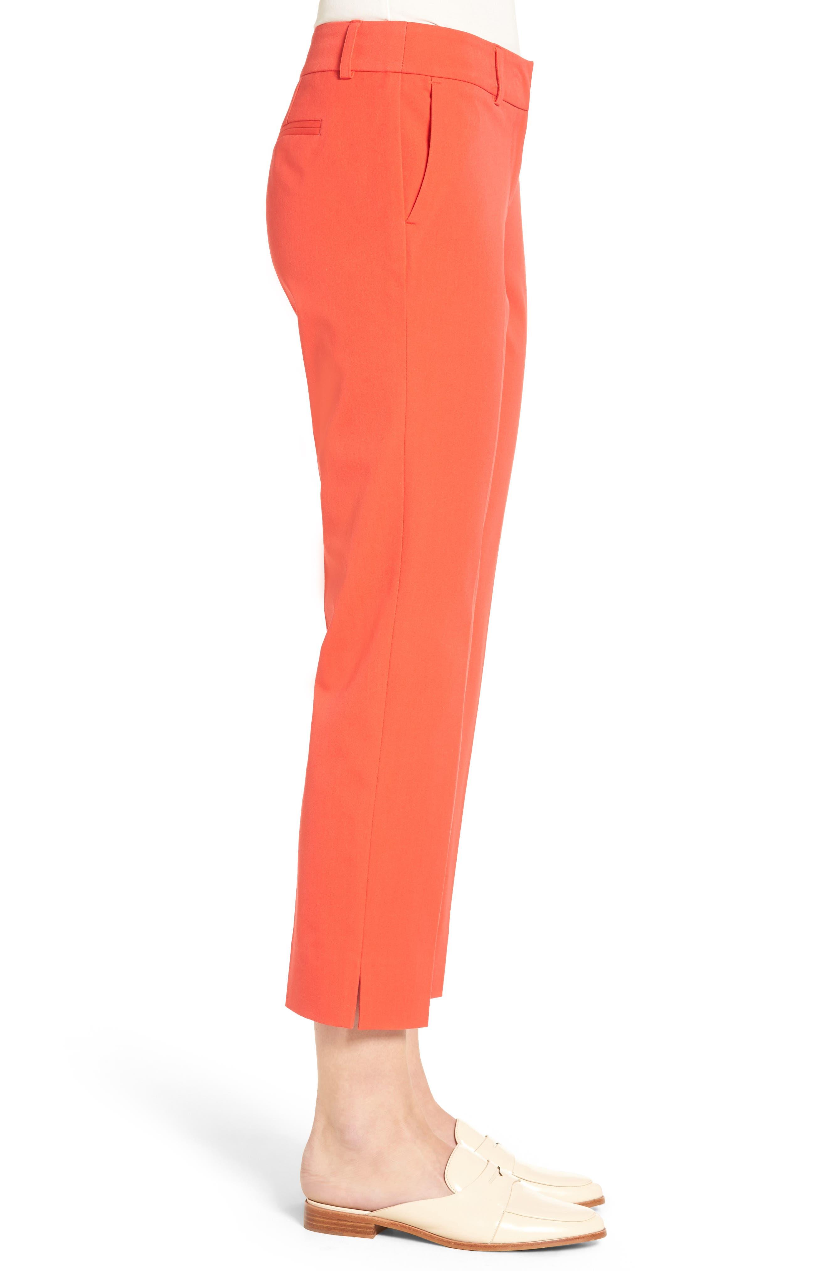 Crop Stretch Cotton Pants,                             Alternate thumbnail 62, color,