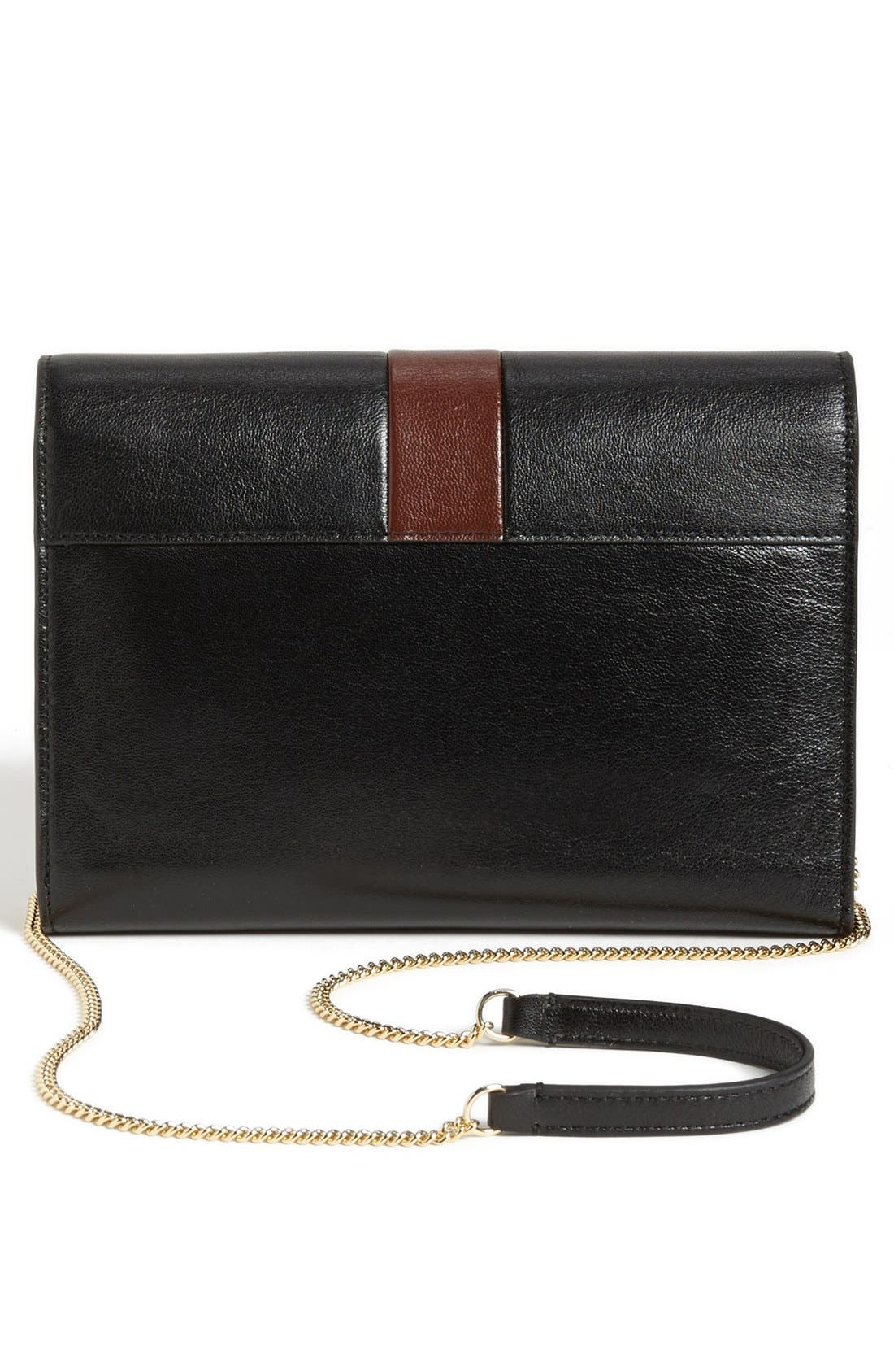 MARC JACOBS,                             'Checkers' All-In-One Leather Crossbody Bag,                             Alternate thumbnail 4, color,                             002