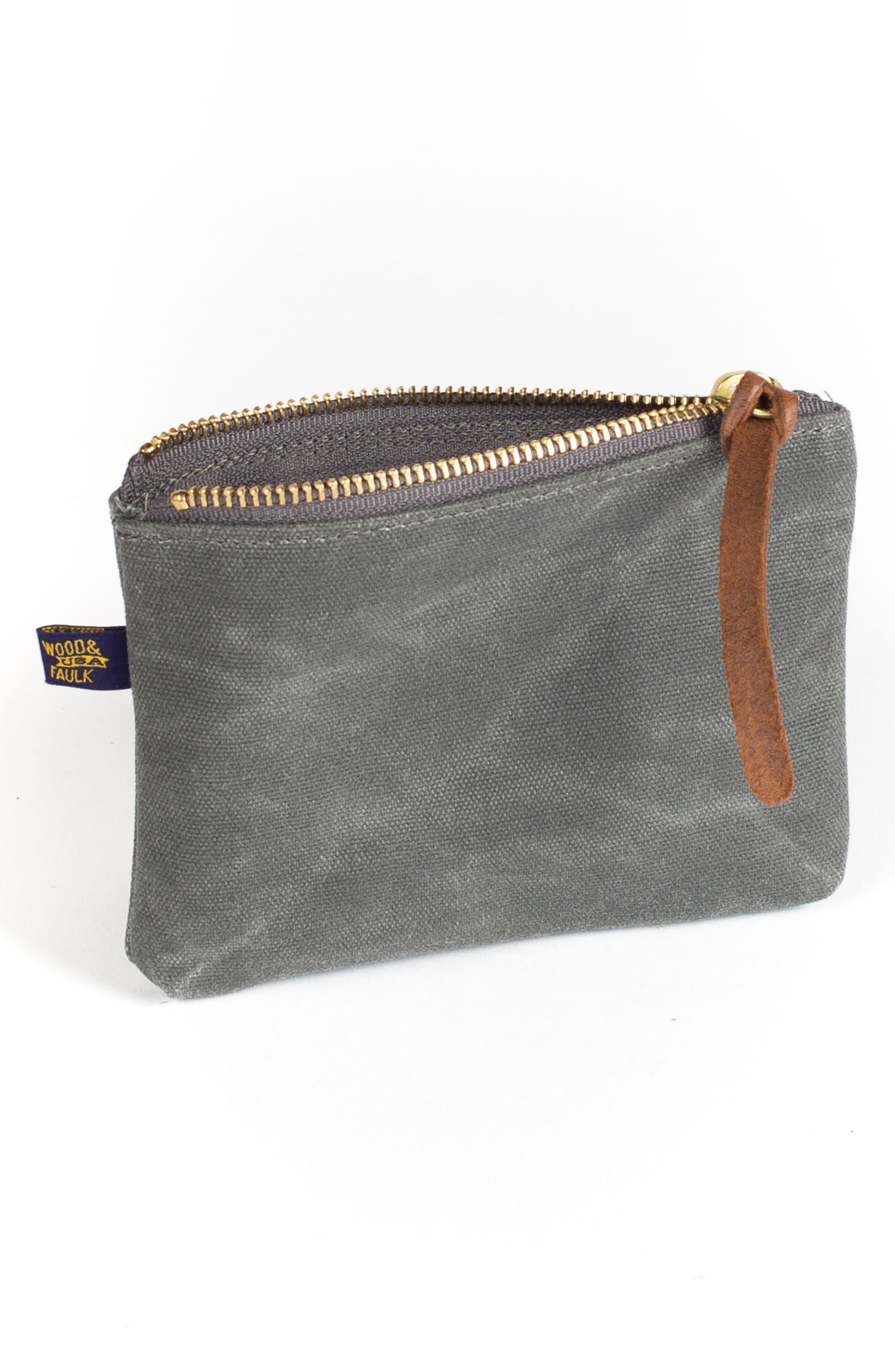 Waxed Canvas Zip Pouch,                             Alternate thumbnail 2, color,                             022